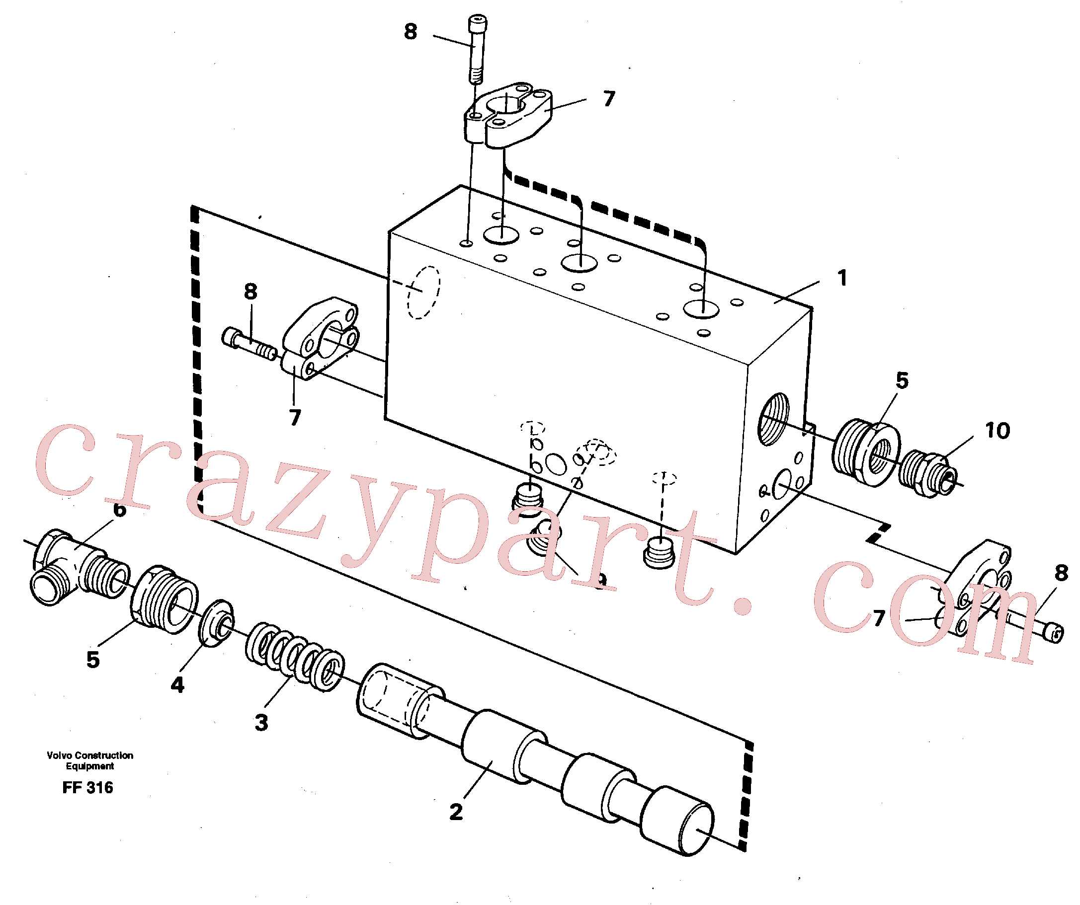 VOE14254547 for Volvo Operating valve(FF316 assembly)