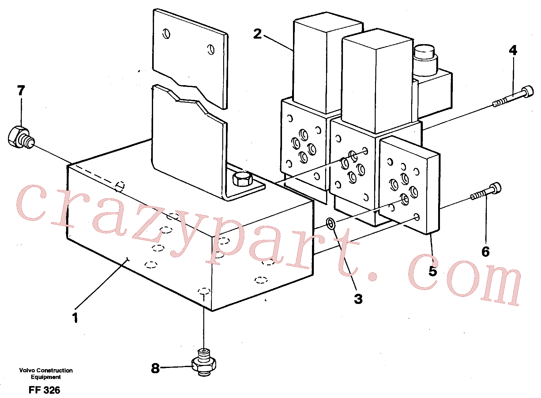 VOE14265156 for Volvo Solenoid valves(FF326 assembly)