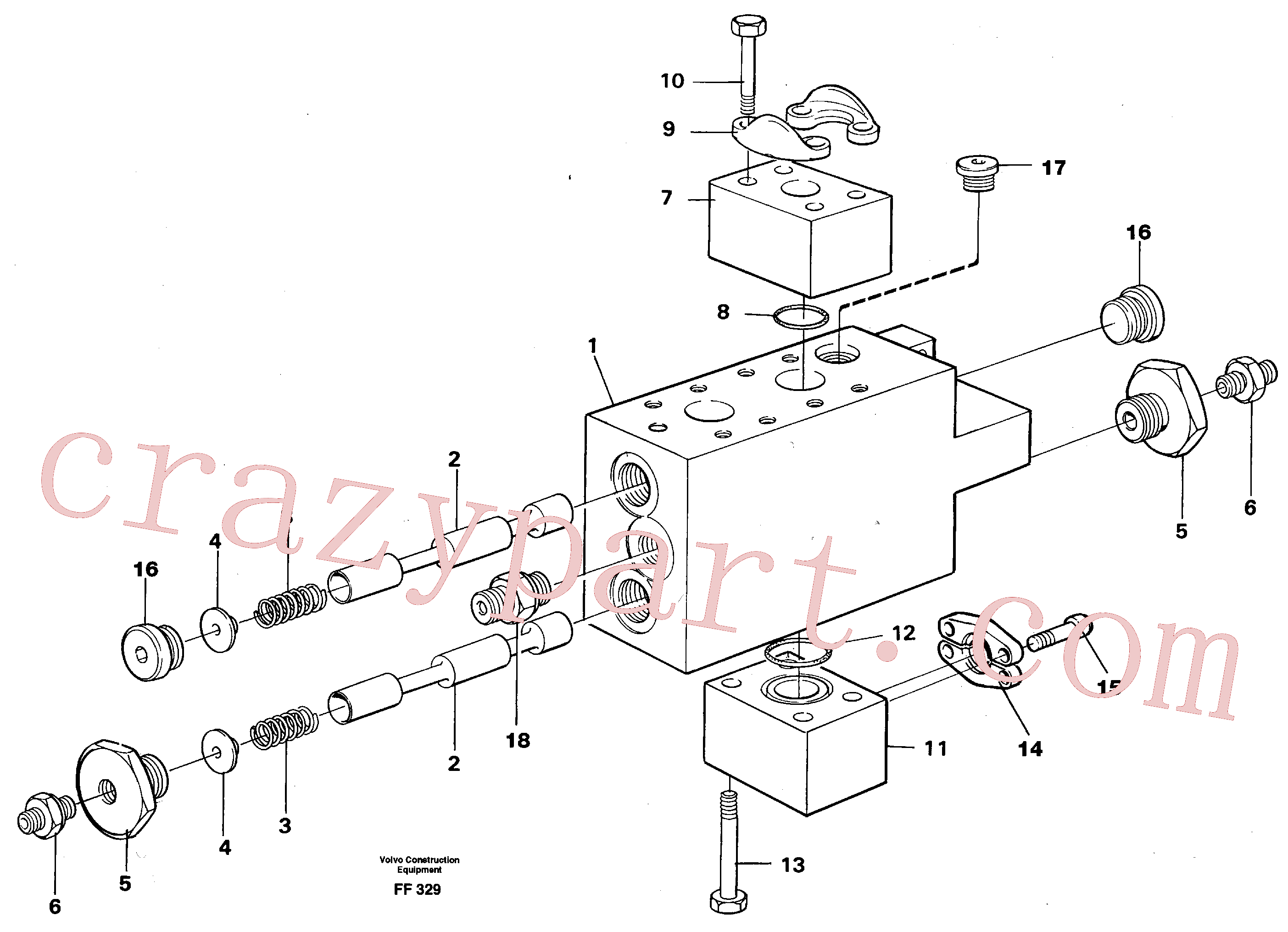 VOE13970984 for Volvo Operating valve(FF329 assembly)