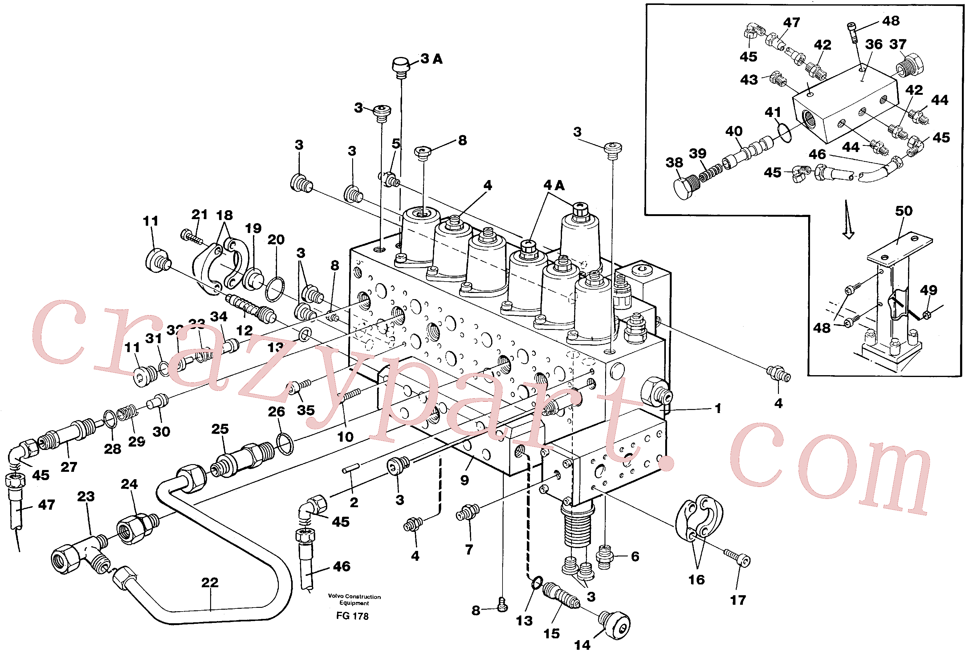 VOE14343365 for Volvo Main valve assembly, tubes connections, assembly bloc(FG178 assembly)