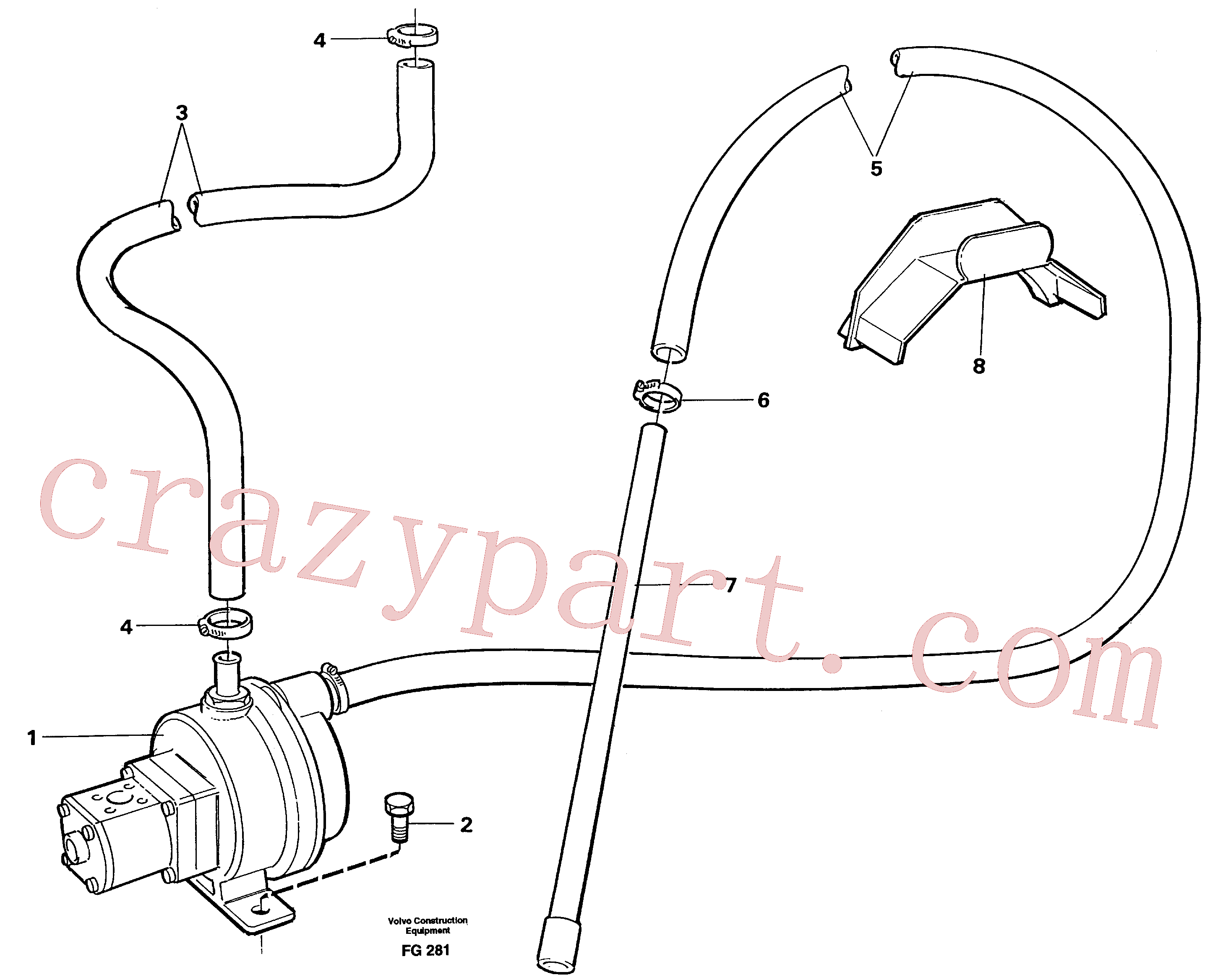 VOE14040604 for Volvo Fuelfilling pump with hoses(FG281 assembly)