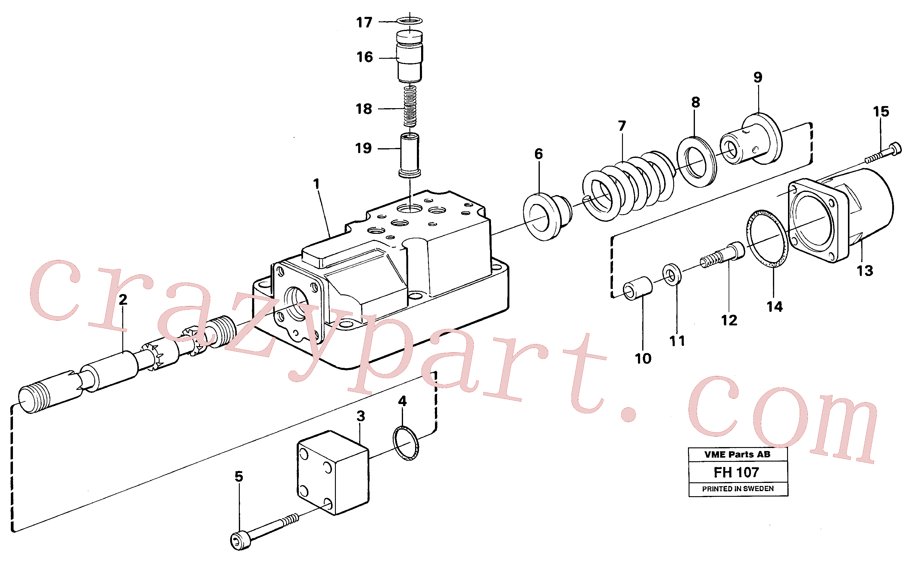 VOE14040428 for Volvo Four-way valve boom, secondary(FH107 assembly)