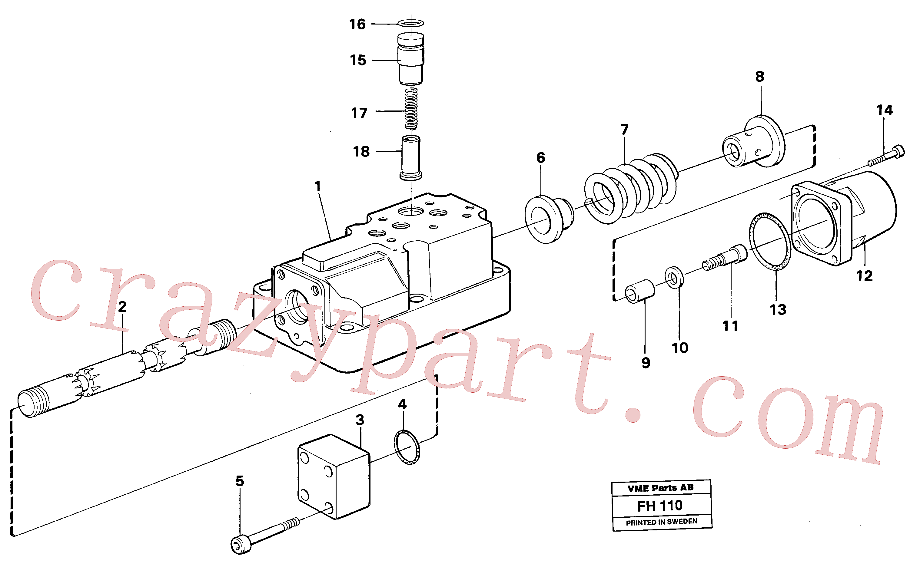 VOE14236709 for Volvo Four-way valve boom, primary(FH110 assembly)