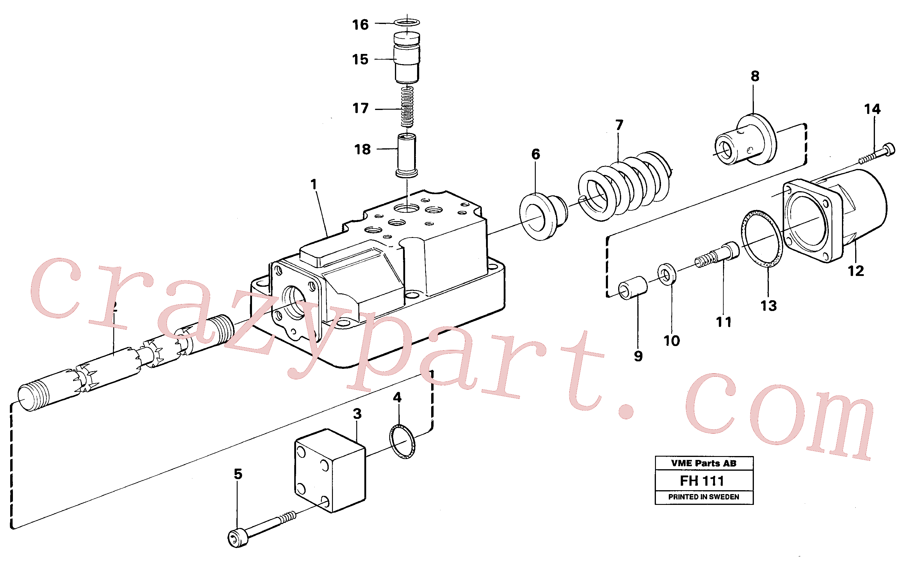 VOE14252118 for Volvo Four-way valve bucket, primary(FH111 assembly)