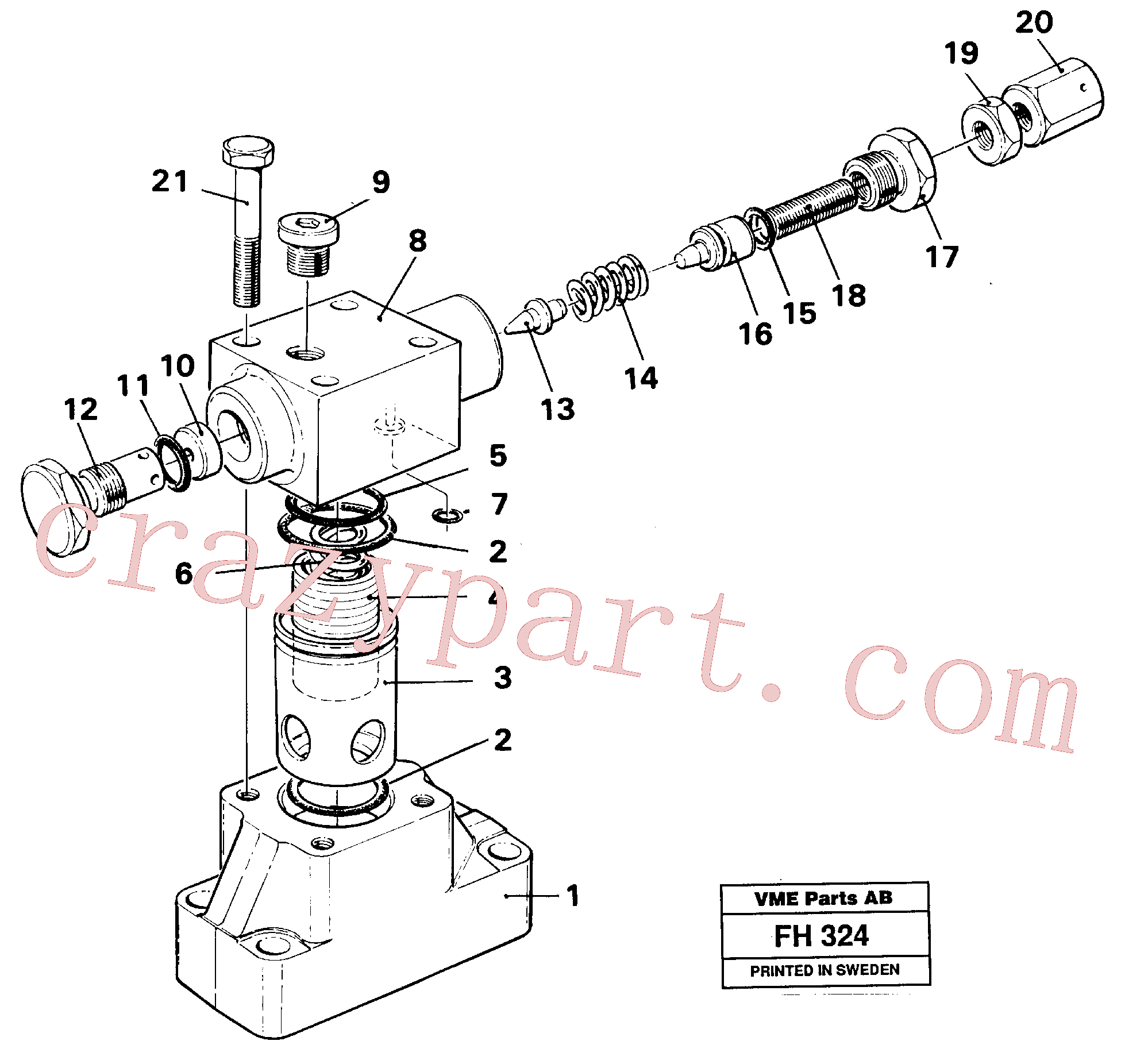 VOE14234399 for Volvo Pressure limiting valve(FH324 assembly)