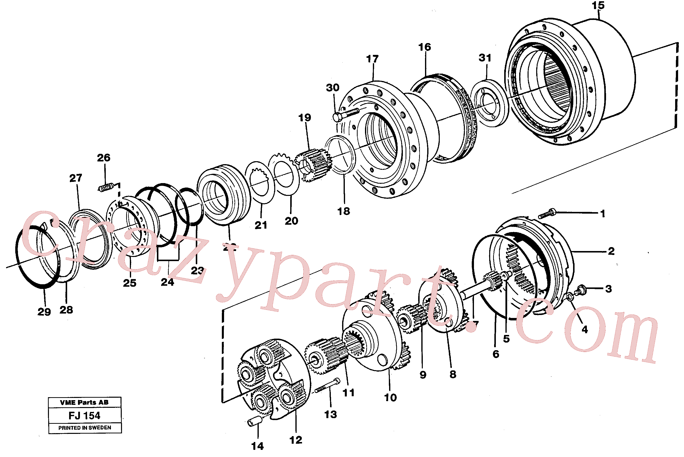RM20341566 for Volvo Planetary gear, travel(FJ154 assembly)