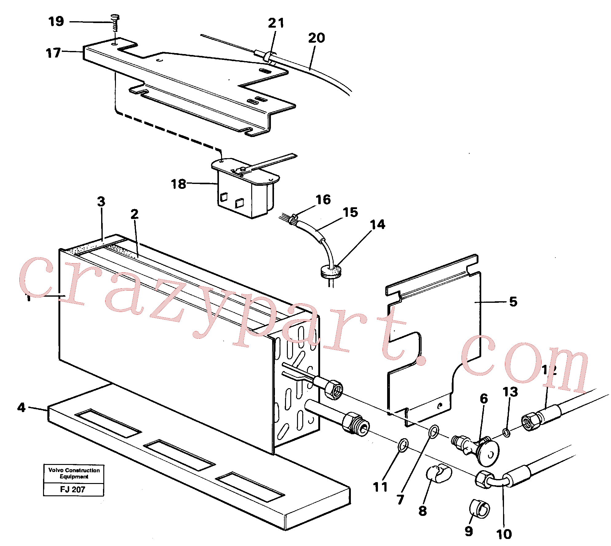 VOE14213544 for Volvo Evaporator with fitting parts Cooling agent R12,r134a(FJ207 assembly)