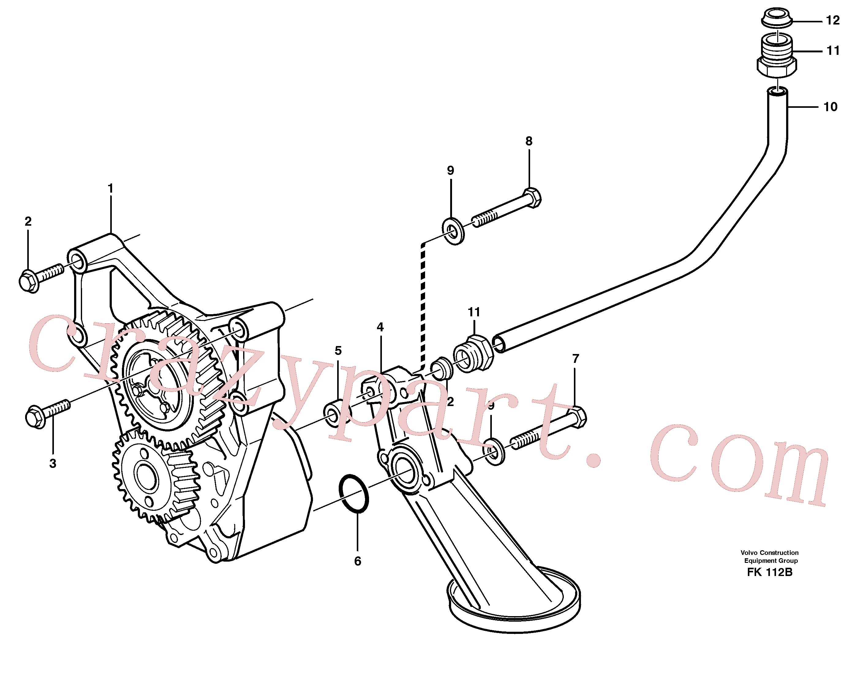 VOE980786 for Volvo Lubricating oil system(FK112B assembly)