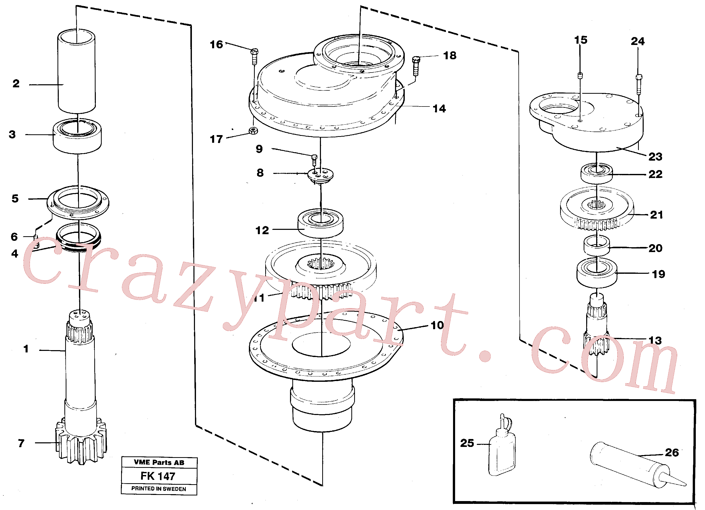 VOE13973244 for Volvo Swing gearbox(FK147 assembly)