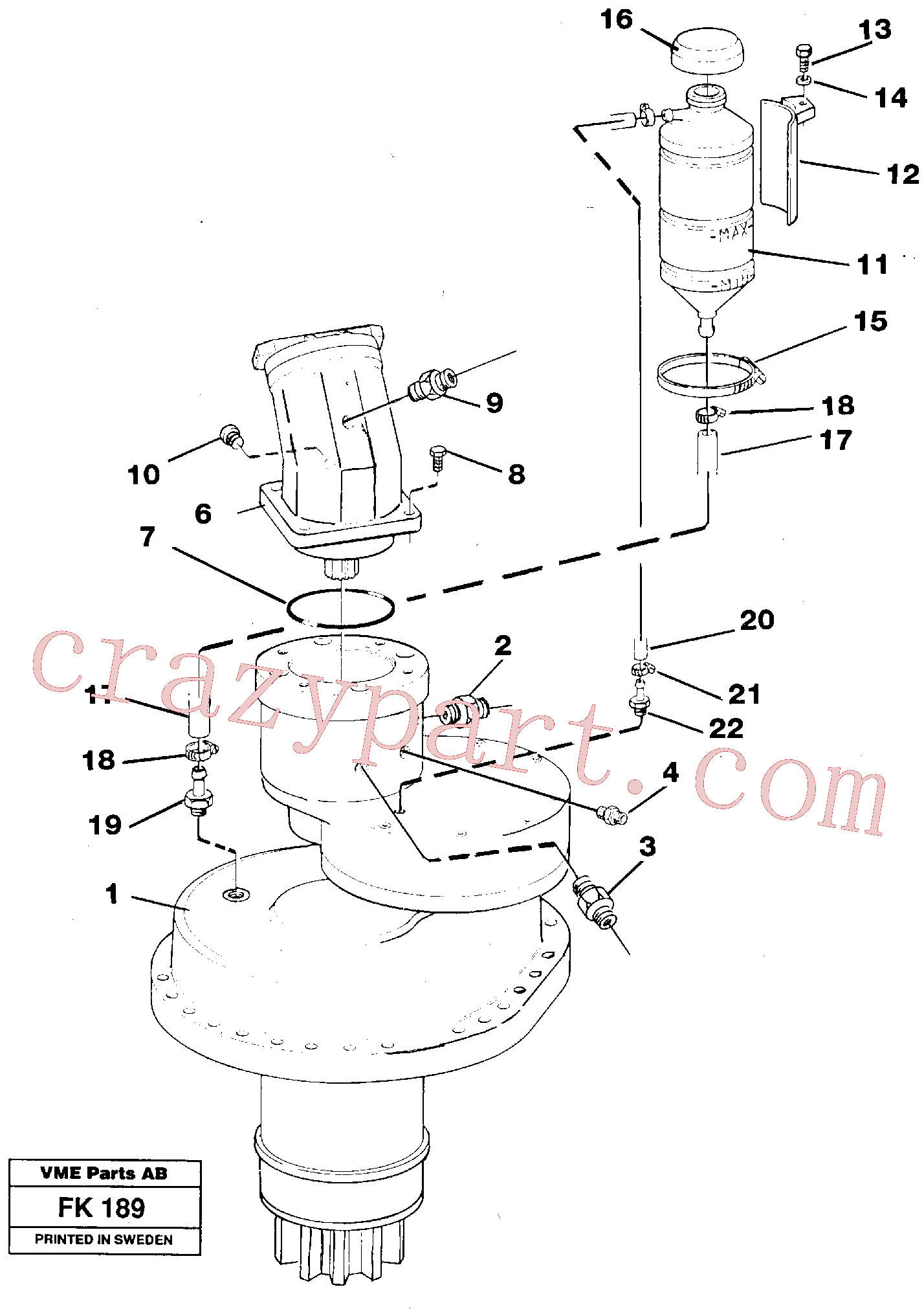VOE14012414 for Volvo Slewing gear box, compl.(FK189 assembly)
