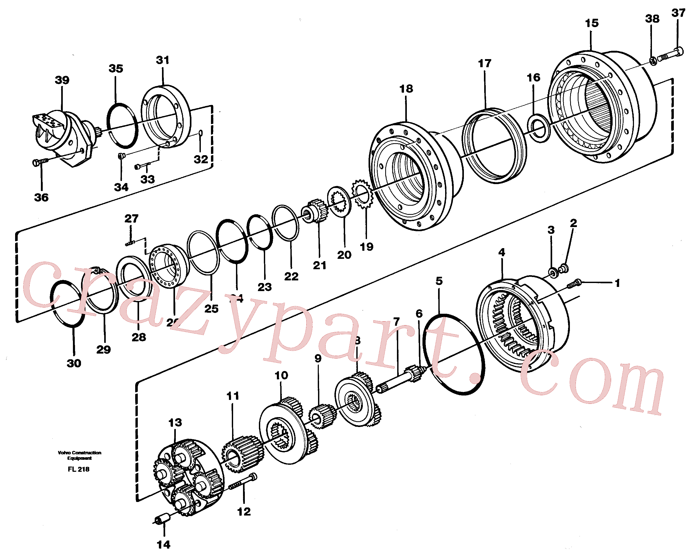 RM20349486 for Volvo Planetary gear, travel(FL218 assembly)