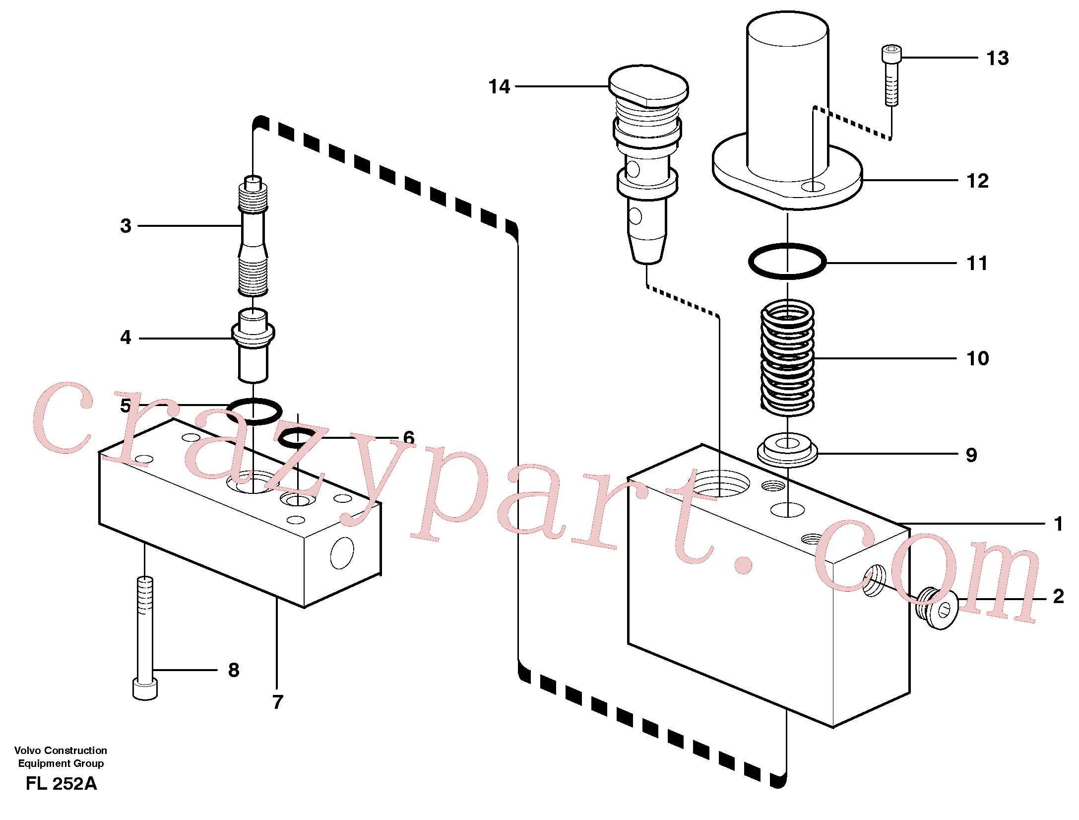 VOE14054983 for Volvo Thermostatic valve(FL252A assembly)
