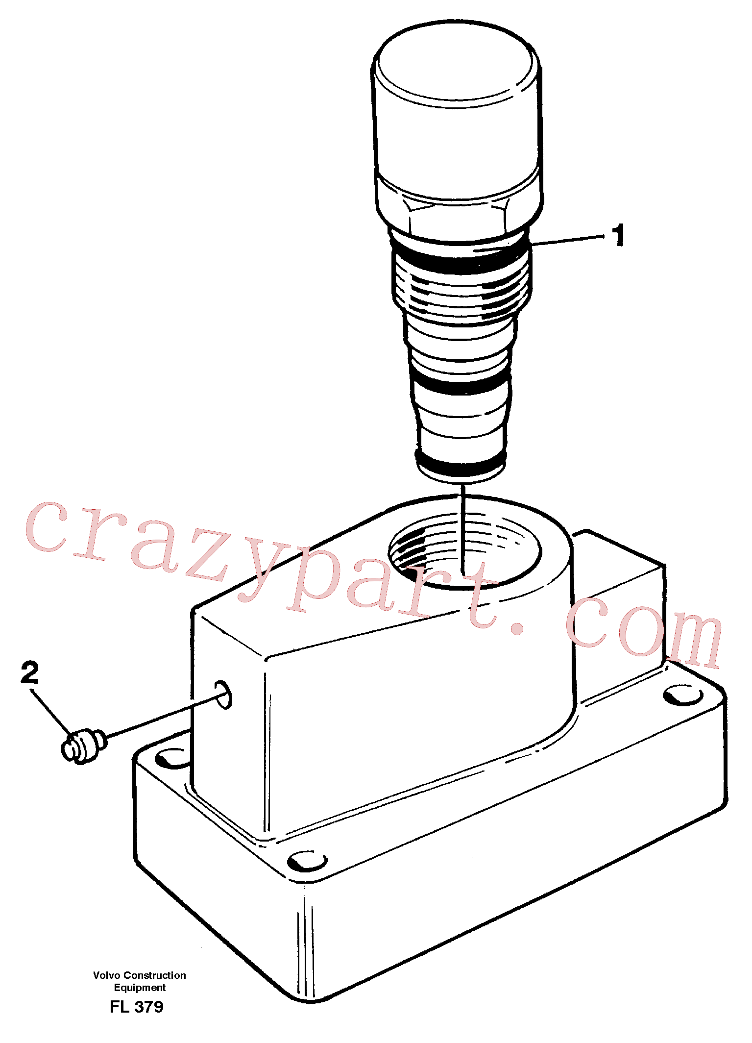 VOE15081662 for Volvo Pressure limiting valve, slewing(FL379 assembly)