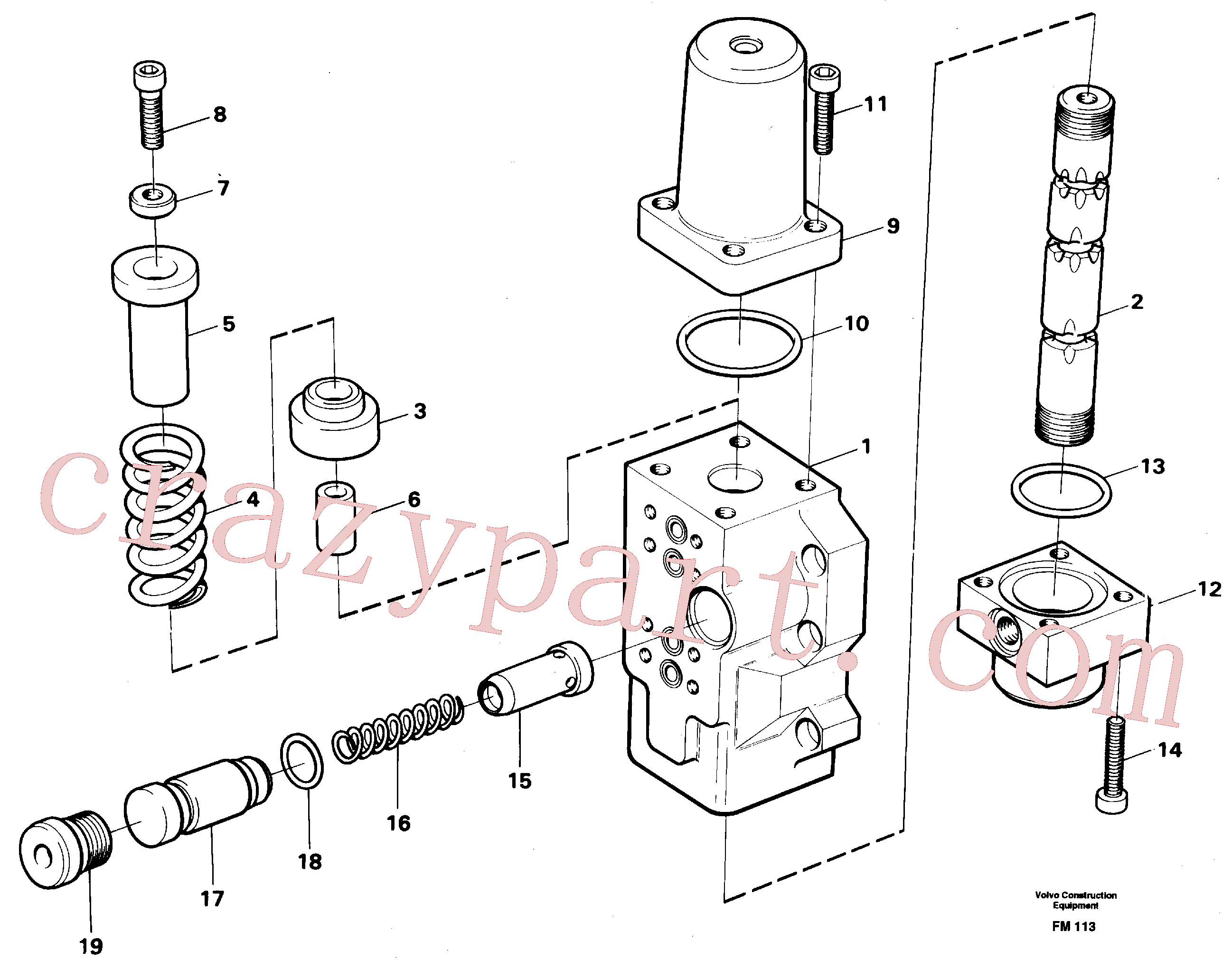 VOE14046451 for Volvo Fourway valve, boom primary(FM113 assembly)