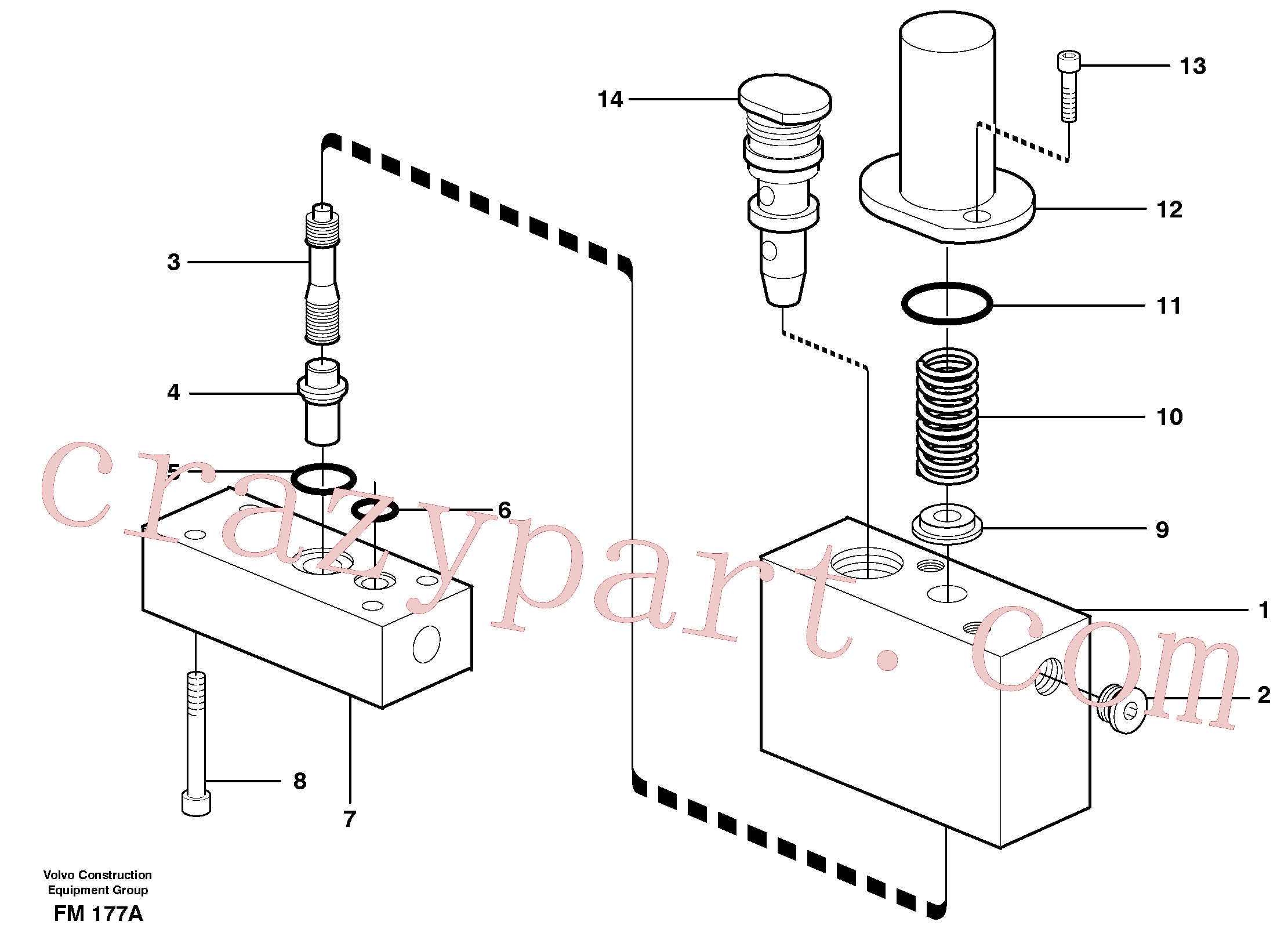VOE14054983 for Volvo Thermostatic valve(FM177A assembly)