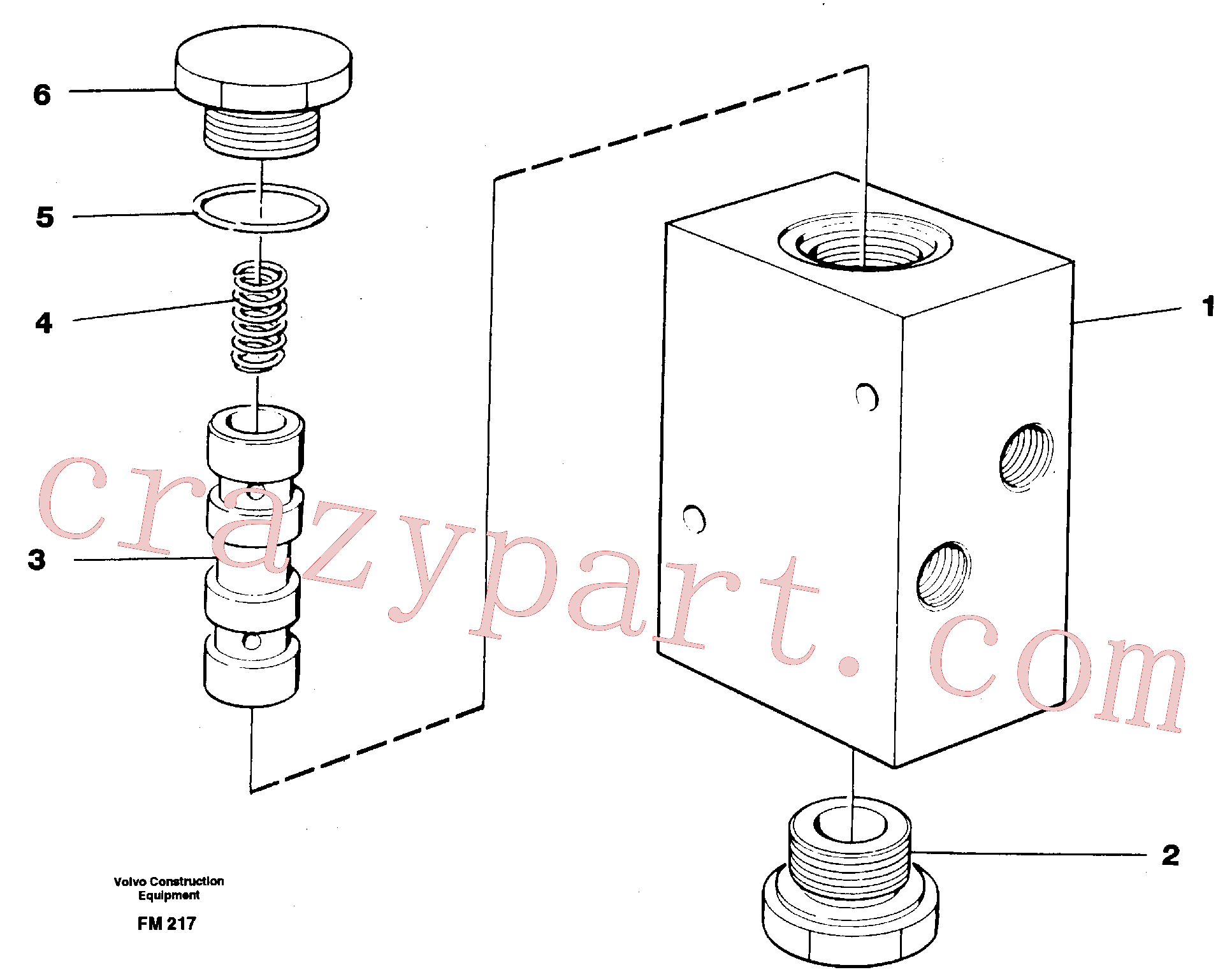 VOE14232860 for Volvo Valve, travel brake(FM217 assembly)
