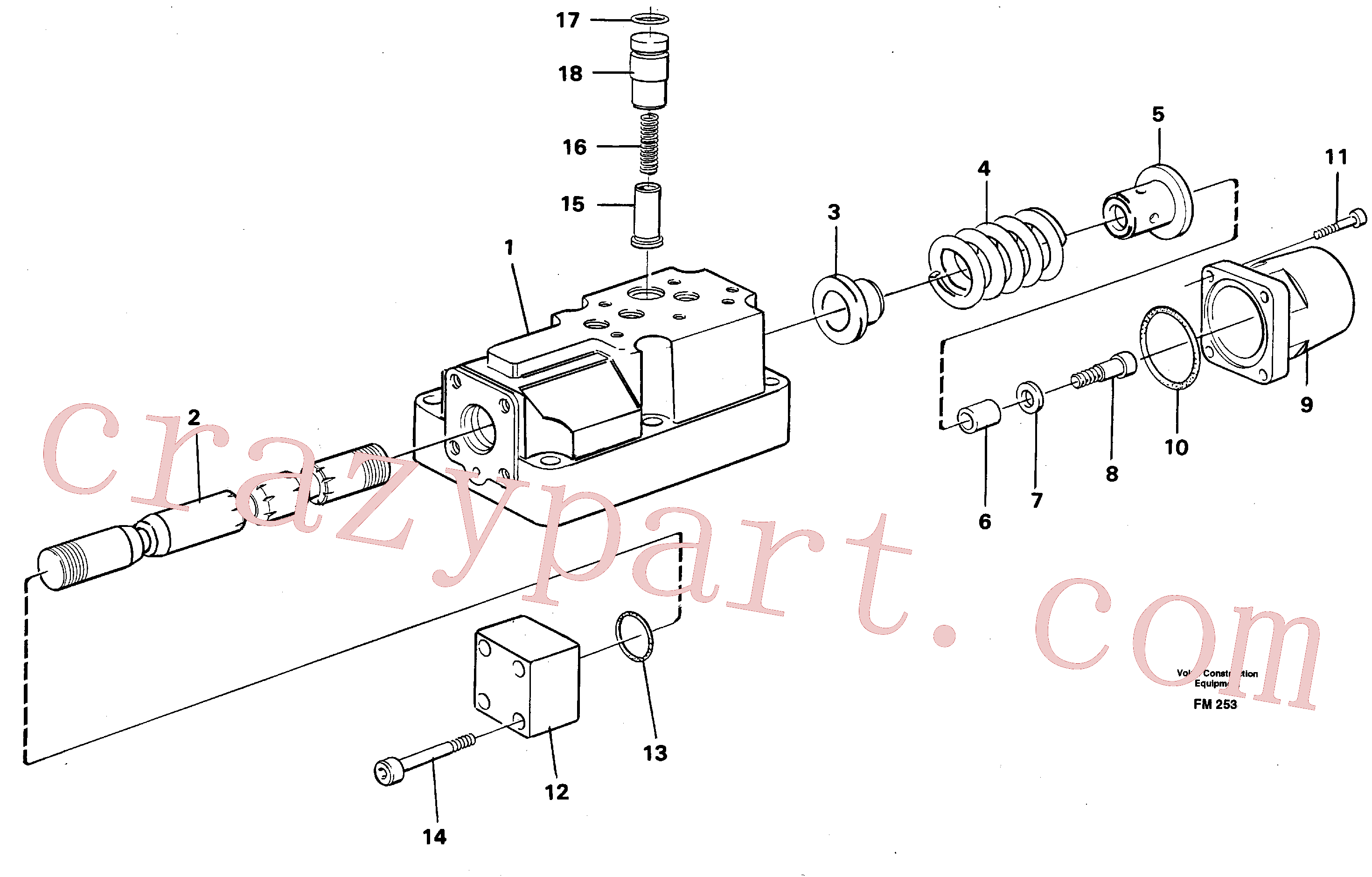VOE14236709 for Volvo Four-way valve(FM253 assembly)