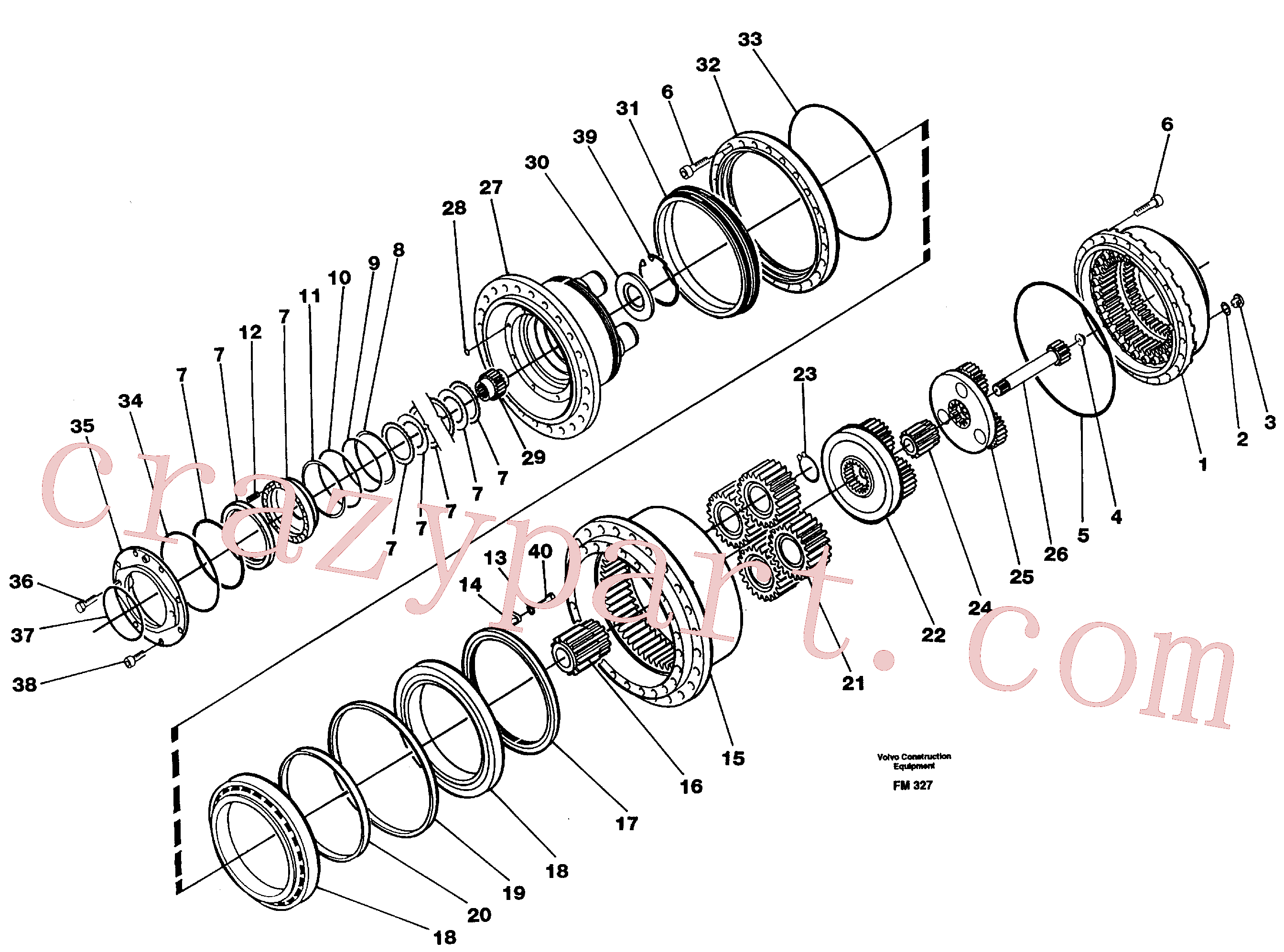 RM20349486 for Volvo Planetary gear, travel(FM327 assembly)