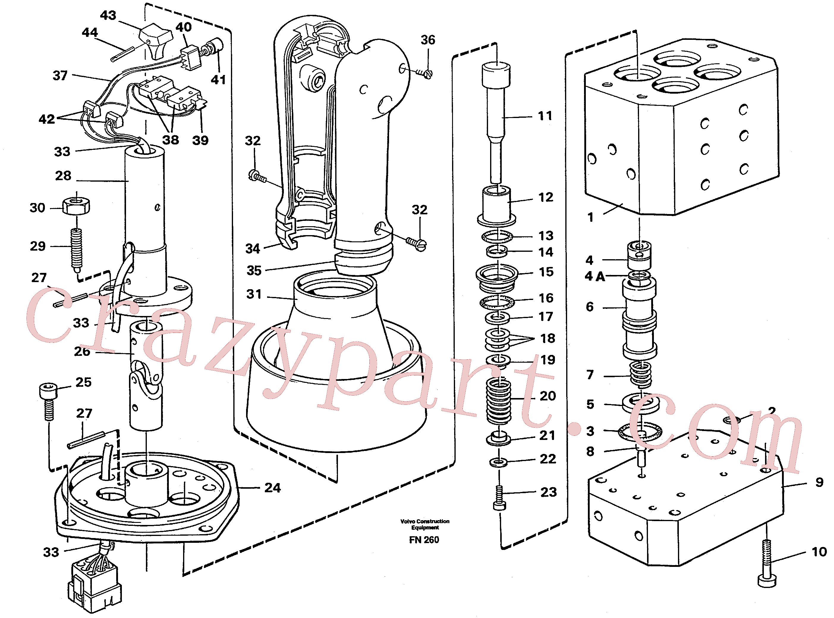 VOE14053896 for Volvo Control pressure valve(FN260 assembly)