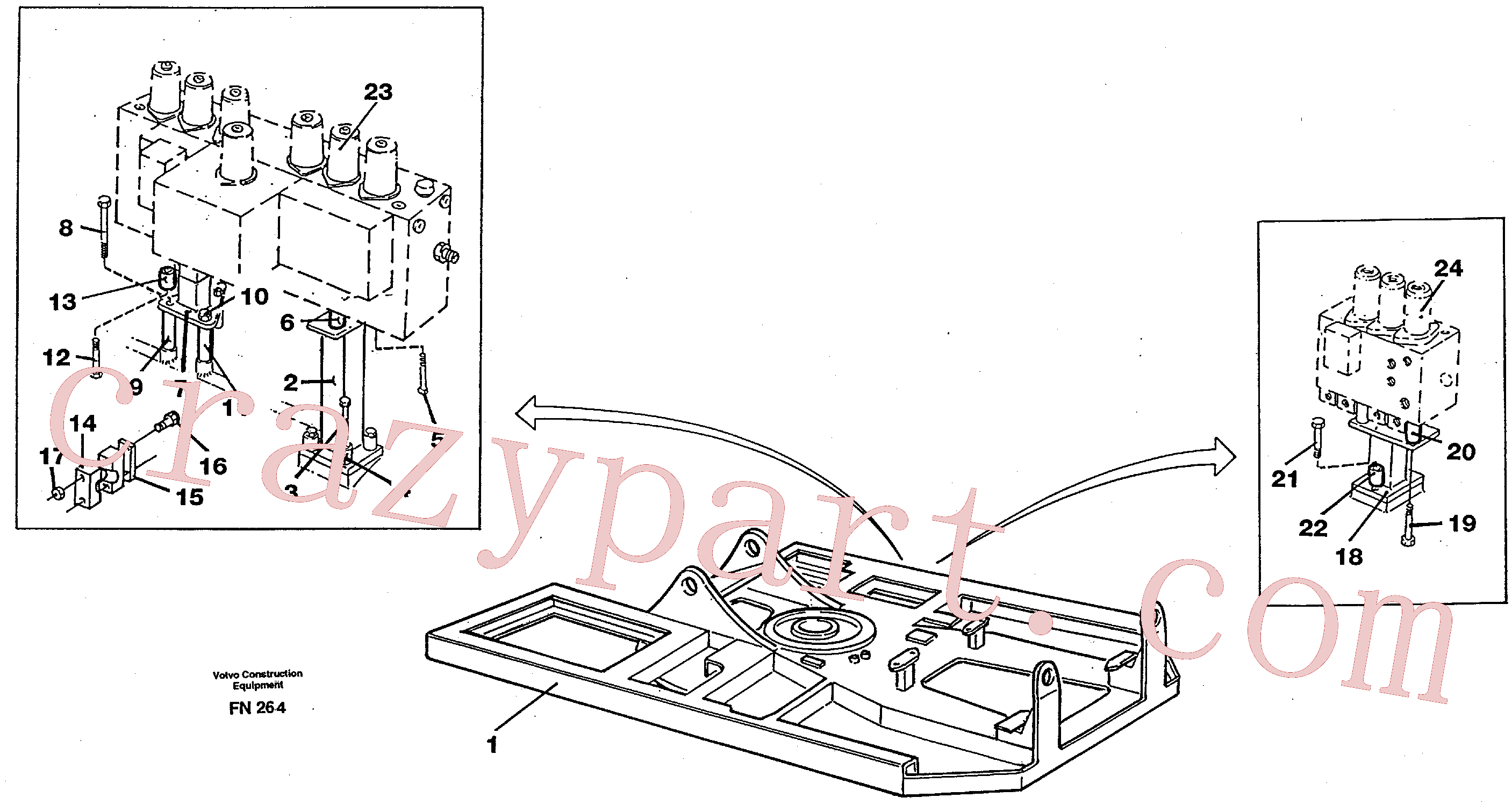 VOE14023321 for Volvo Superstructure(FN264 assembly)
