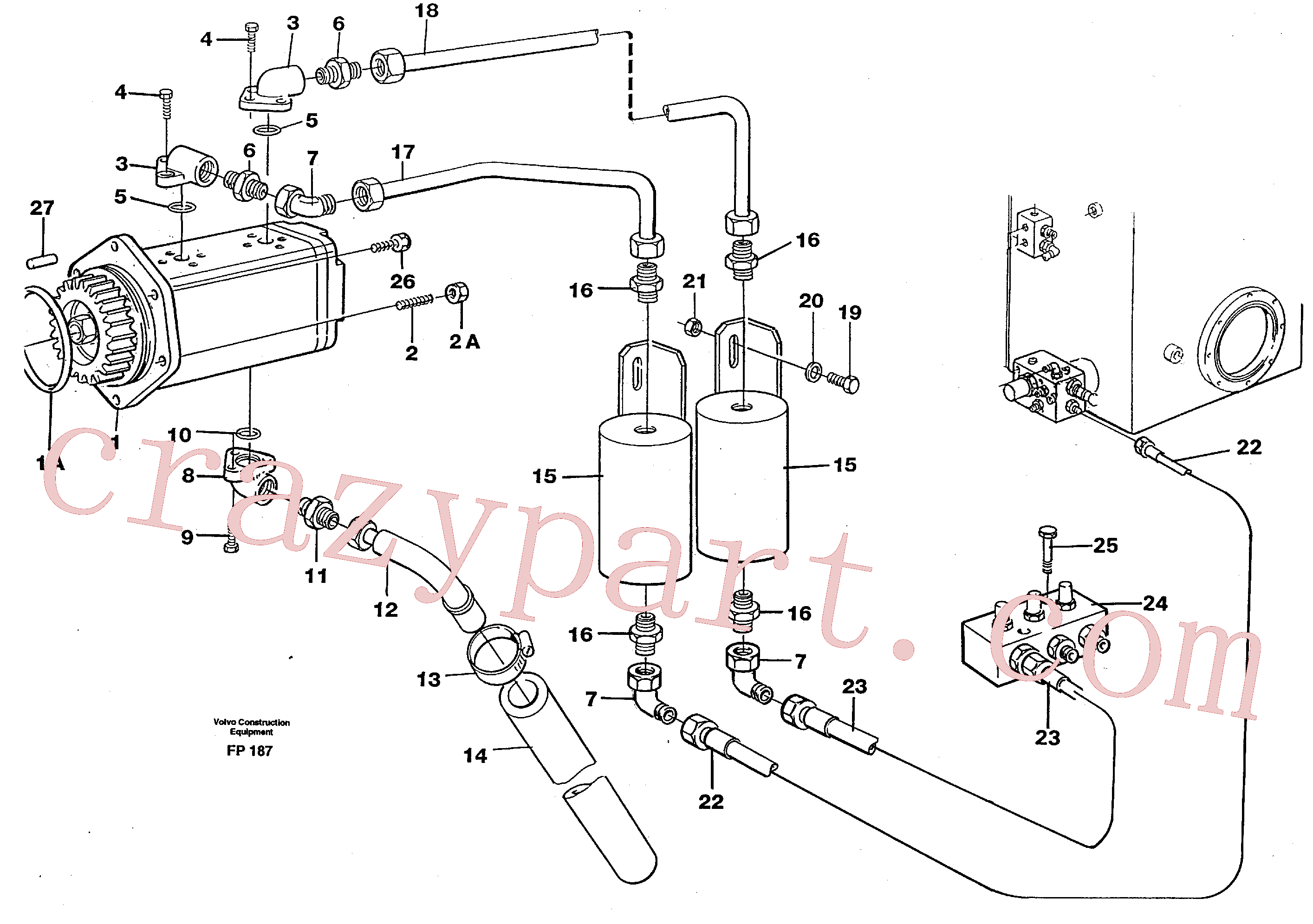 VOE14259617 for Volvo Servo pump(FP187 assembly)