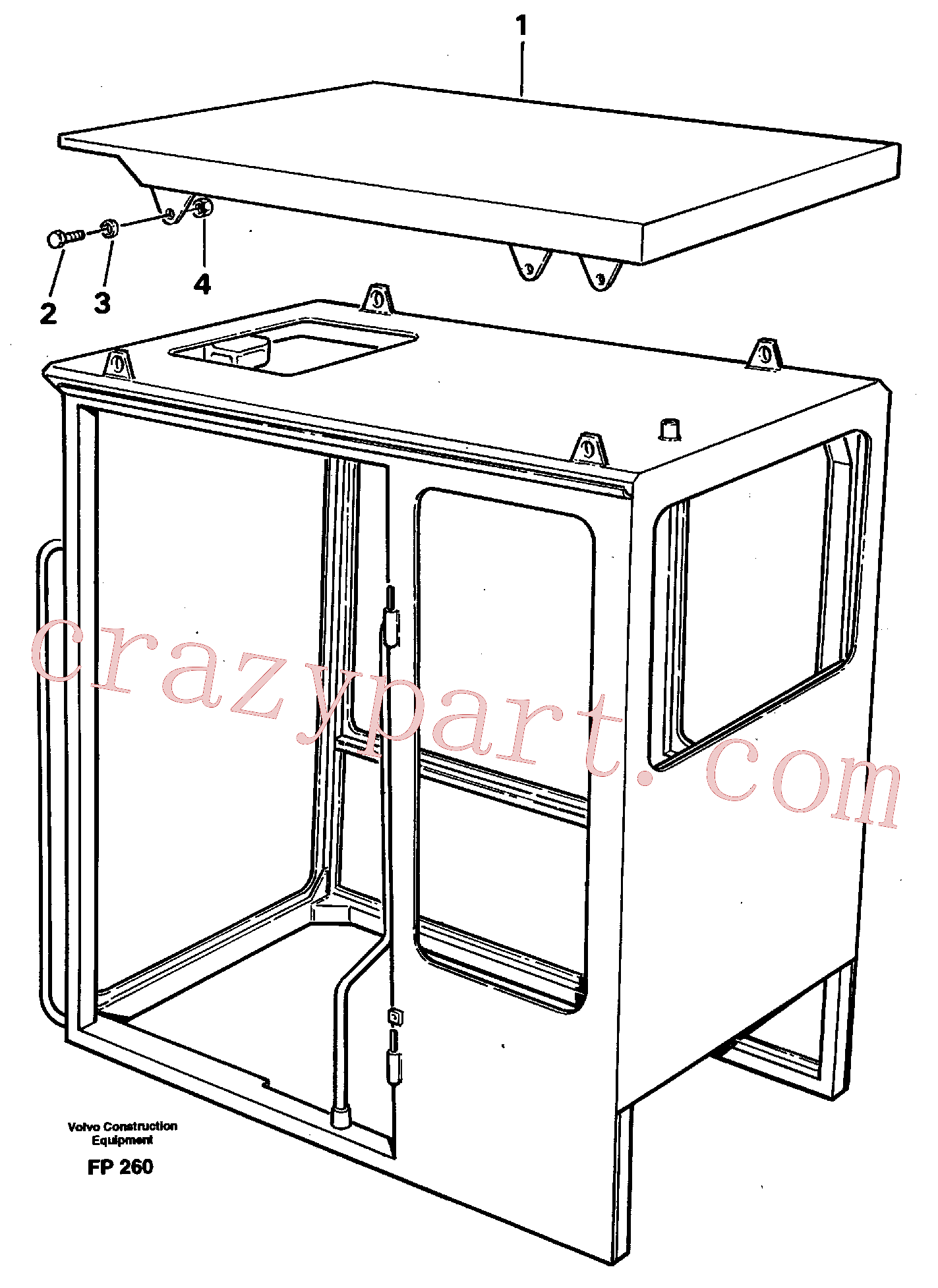 VOE14015147 for Volvo Tropic roof(FP260 assembly)