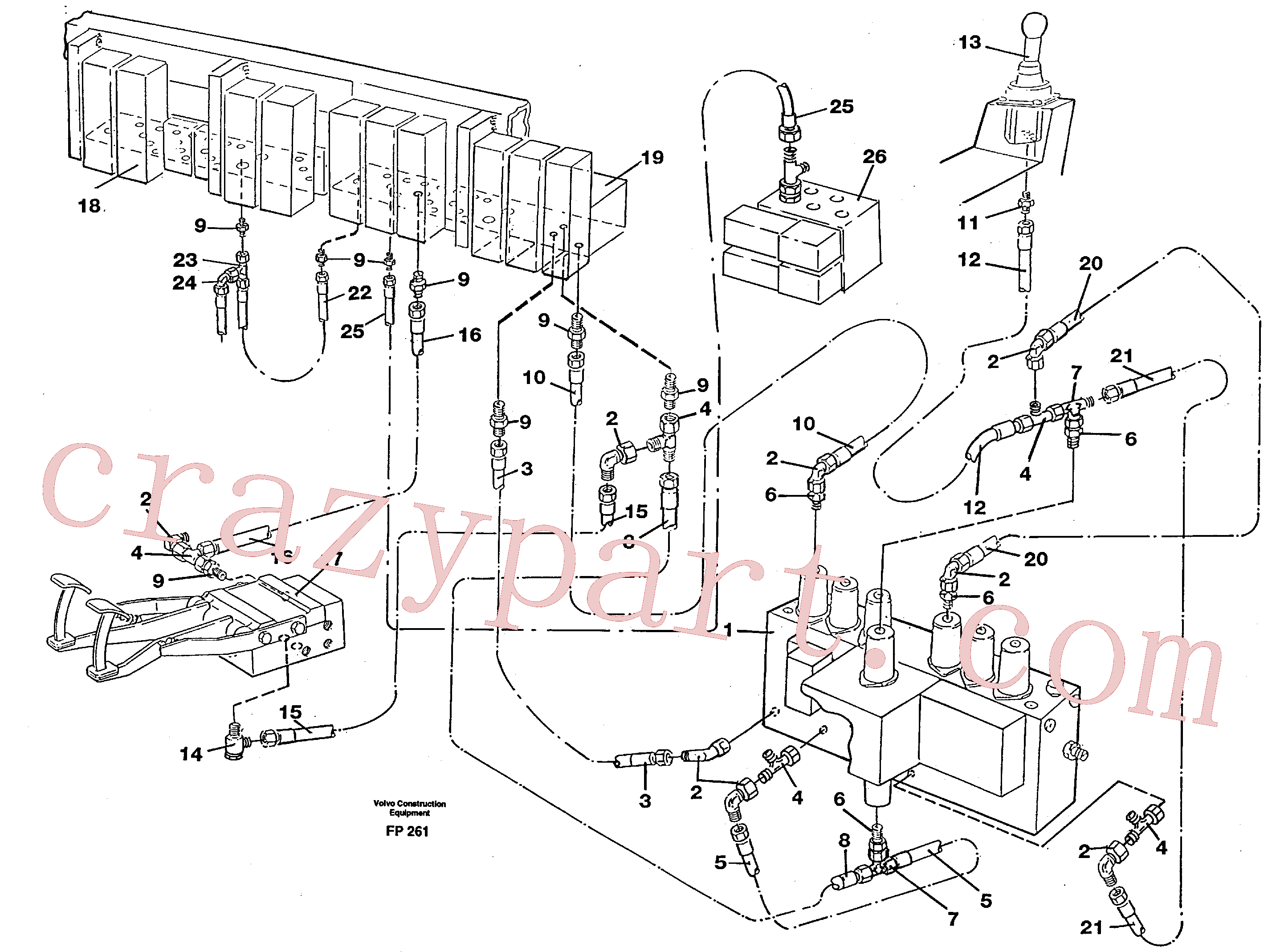 VOE14213147 for Volvo Servohydraulik, travel(FP261 assembly)