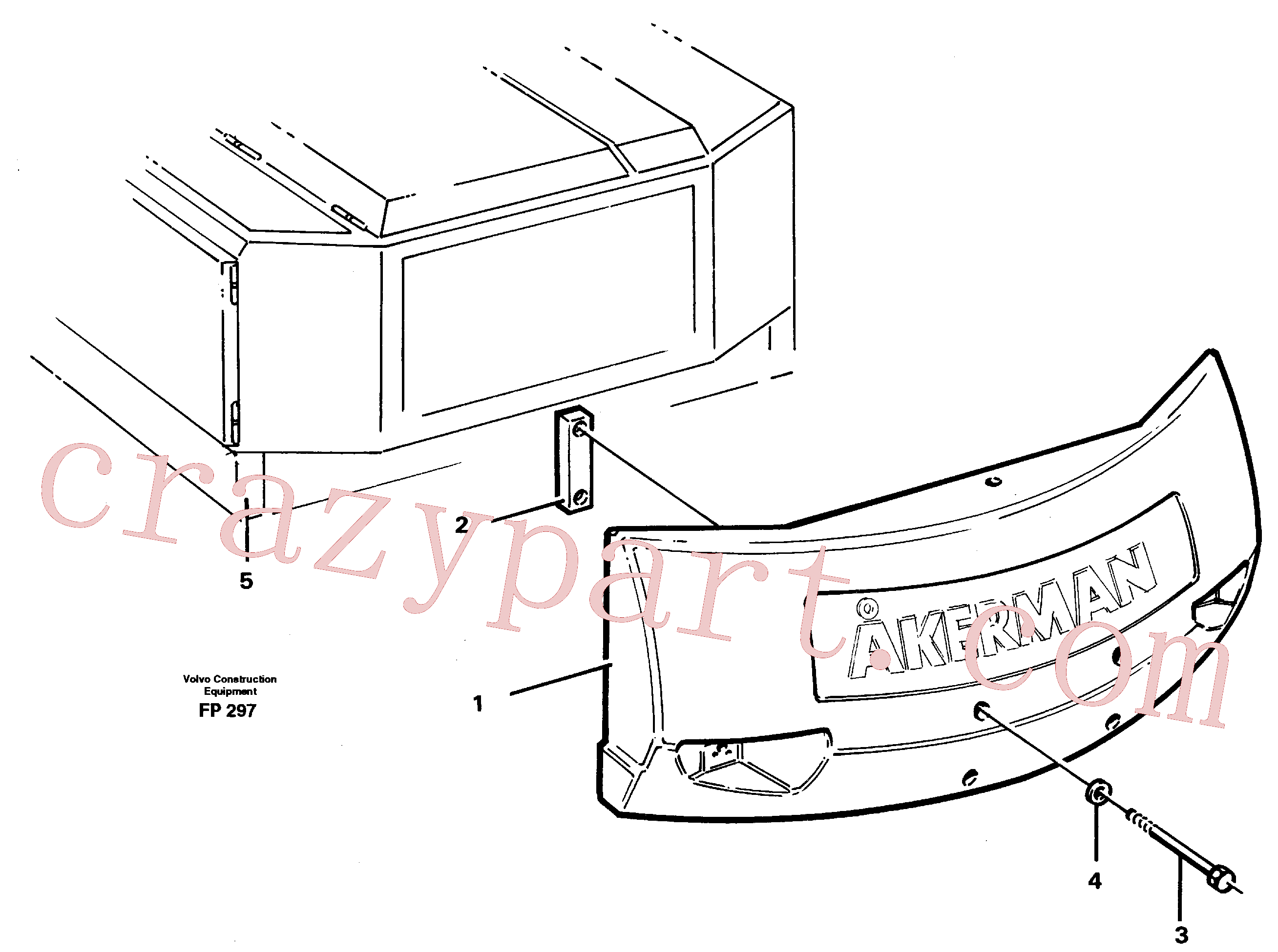VOE928926 for Volvo Counterweights(FP297 assembly)