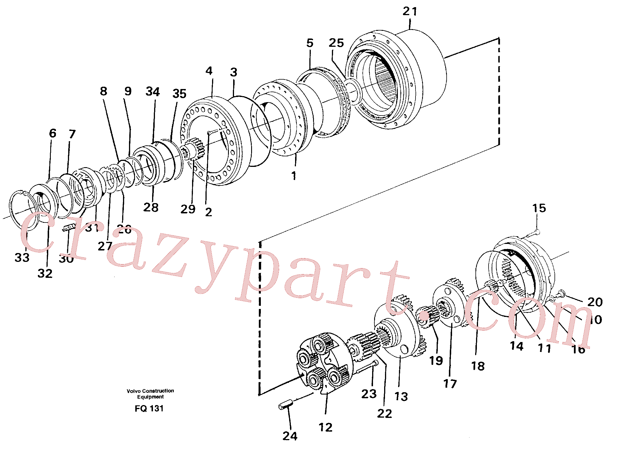 VOE14261972 for Volvo Planetary drive(FQ131 assembly)