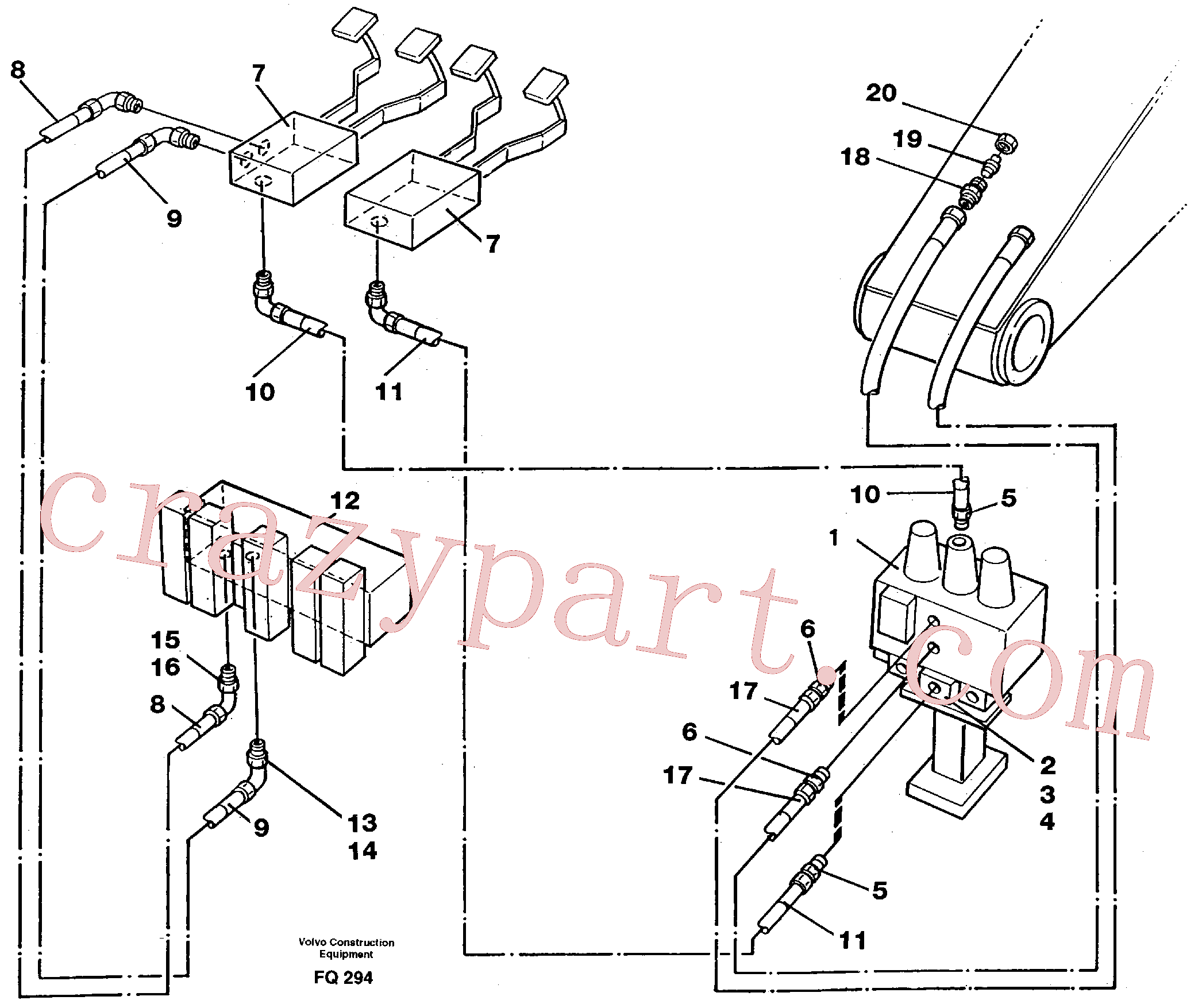 VOE14012423 for Volvo Slope bucket/rotator equipment for mono-boom in base machine(FQ294 assembly)