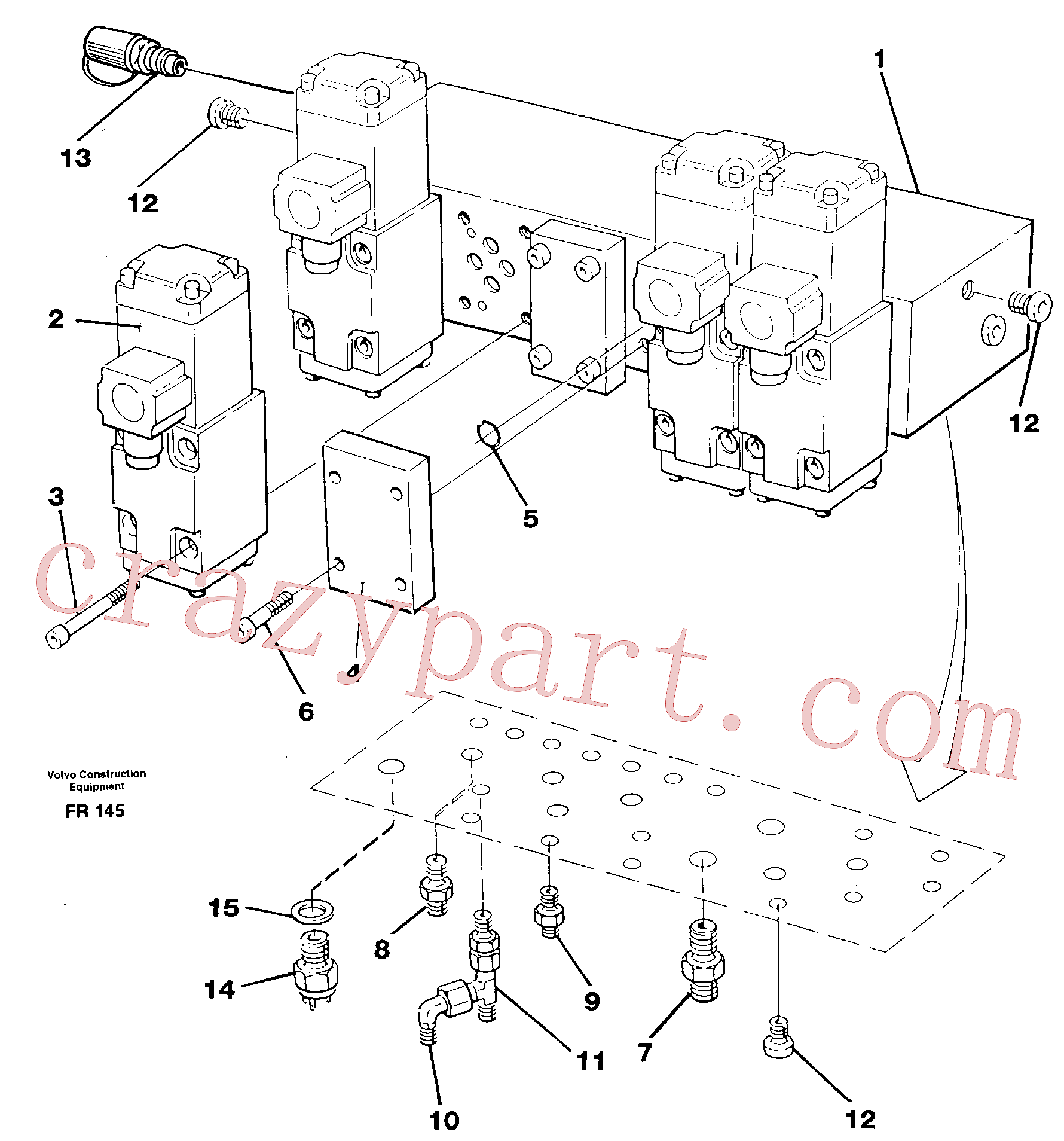 VOE14012383 for Volvo Stop control block(FR145 assembly)