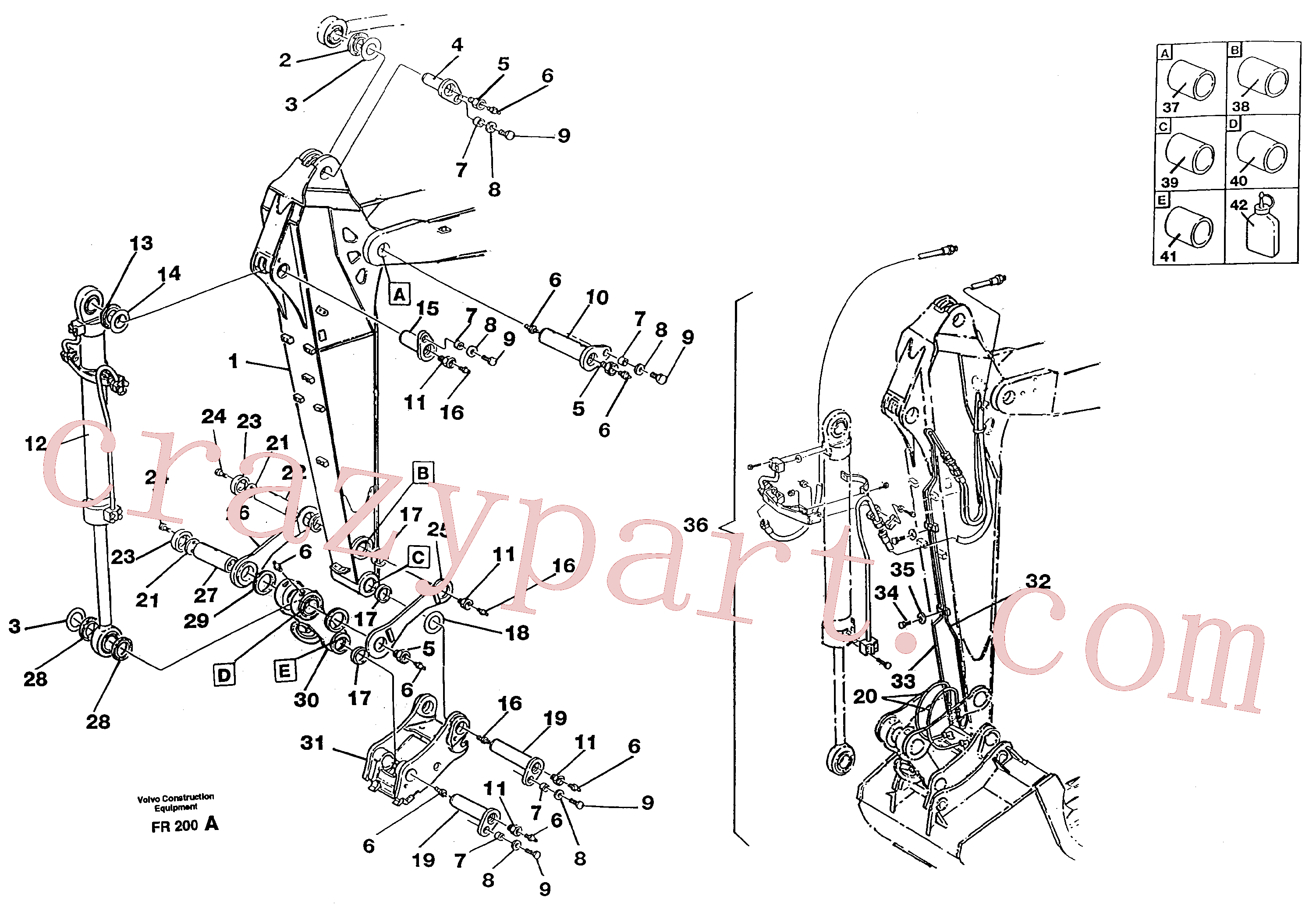 VOE14257736 for Volvo Dipper arm.(FR200A assembly)