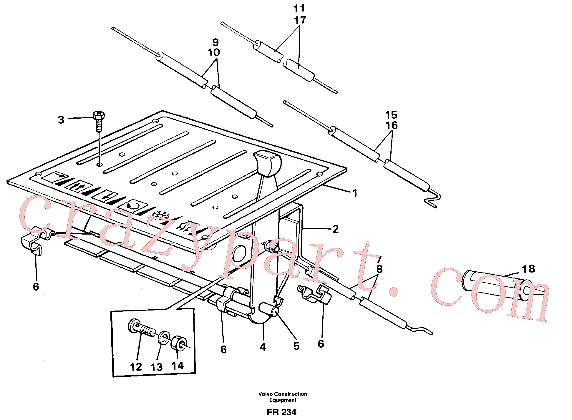 VOE14246694 for Volvo Heater control(FR234 assembly)