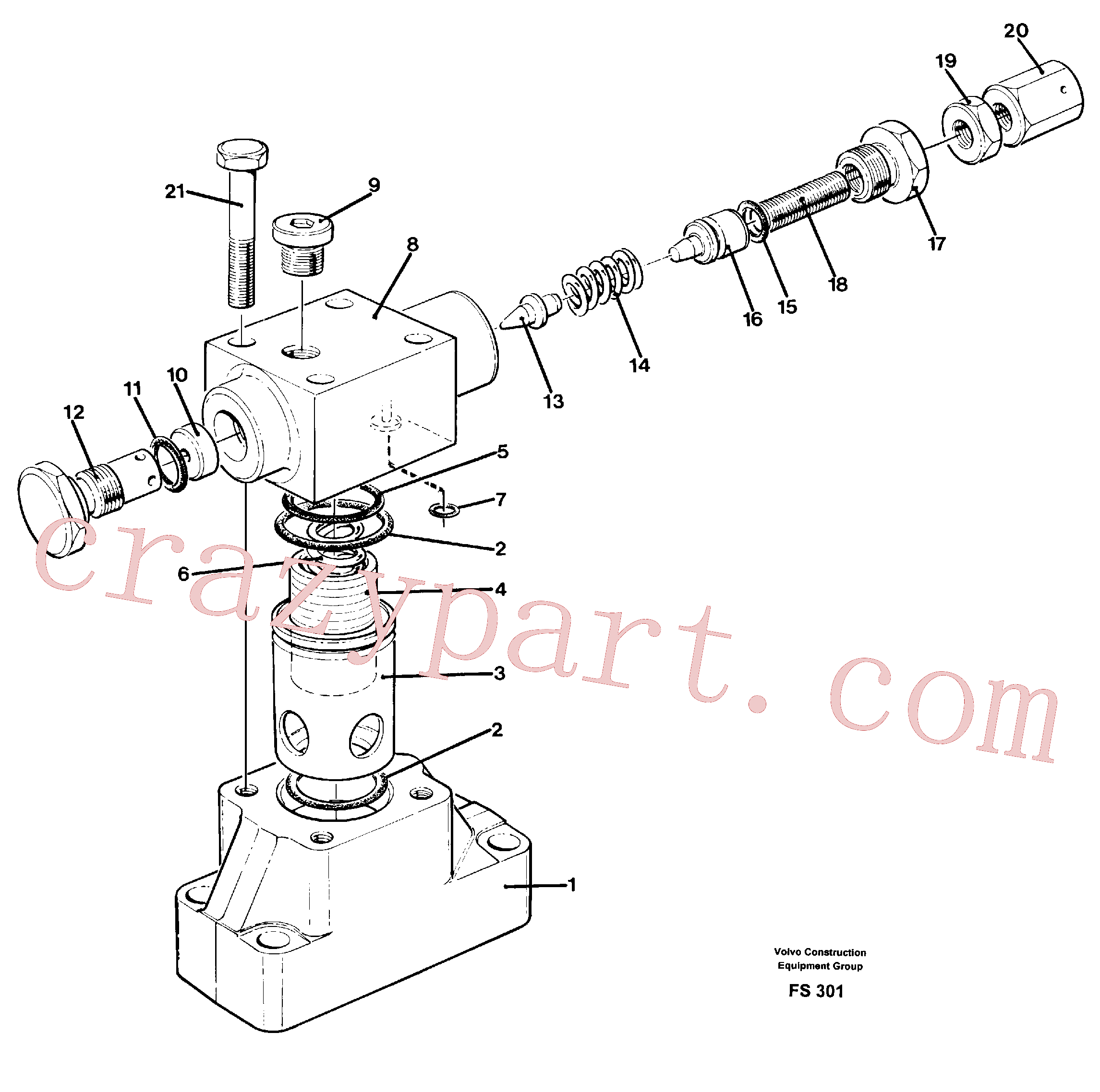 VOE14234399 for Volvo Pressure limiting valve(FS301 assembly)