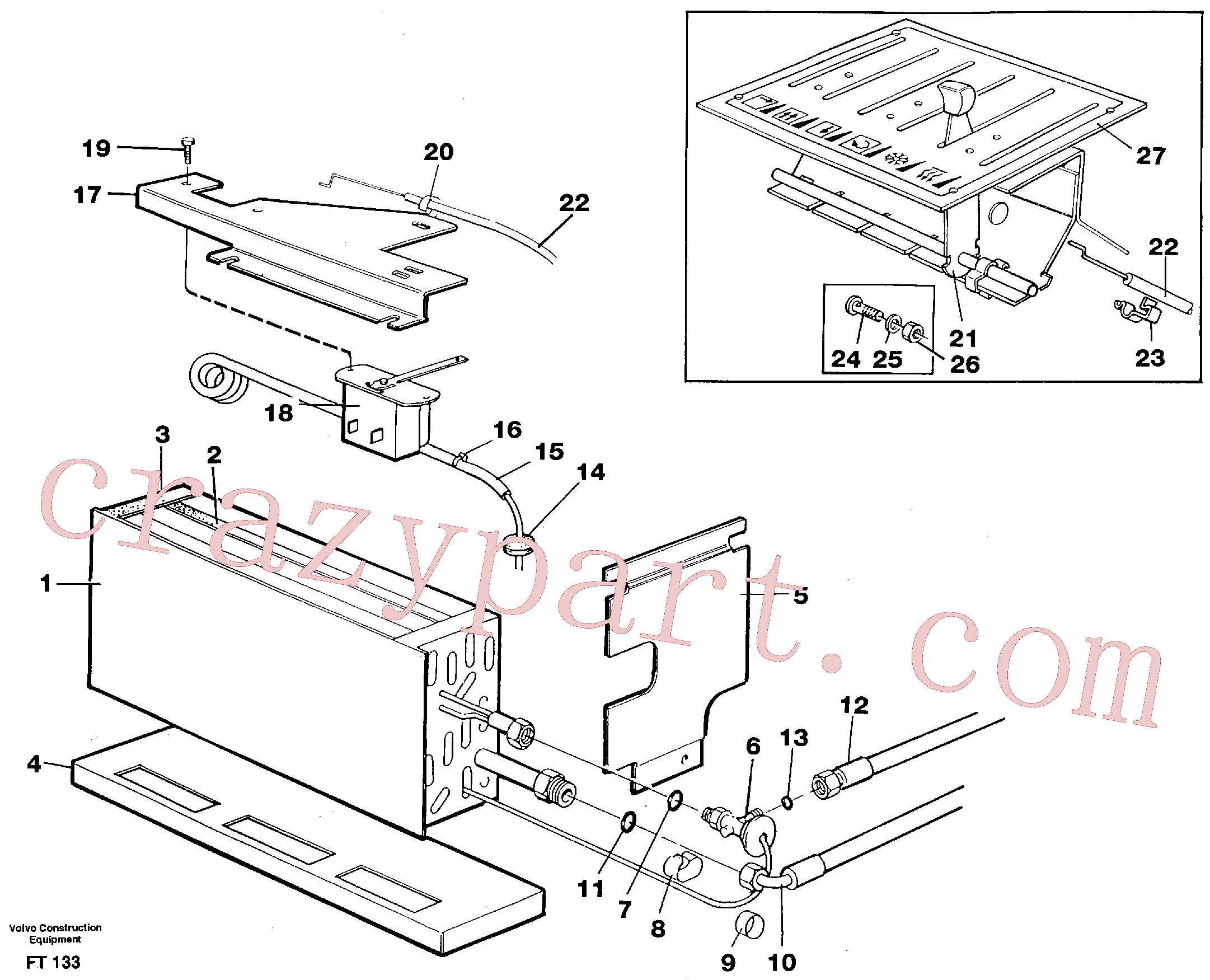 VOE14213544 for Volvo Evaporator with fitting parts, cooling agent R134a(FT133 assembly)