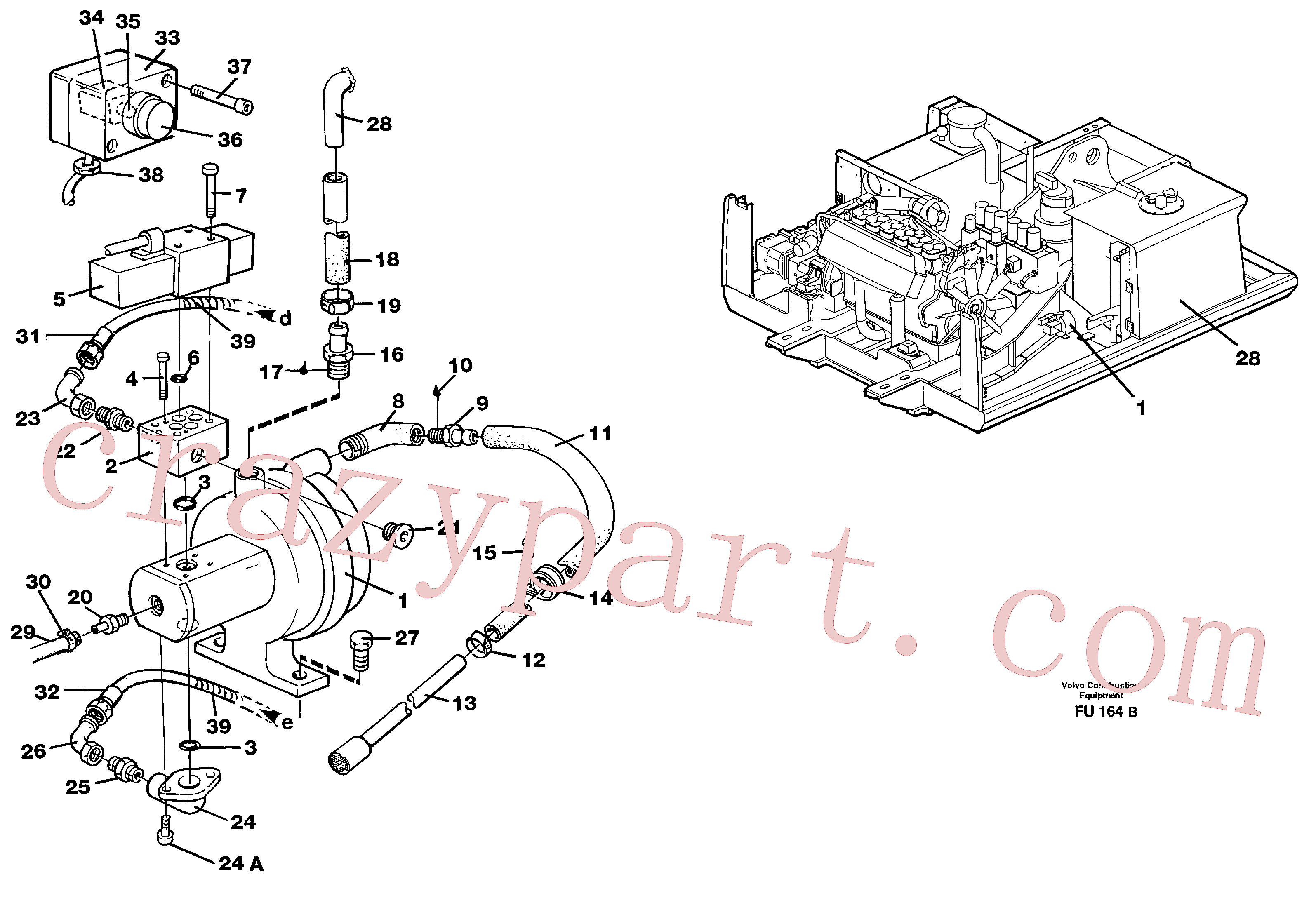 VOE14261935 for Volvo Hydraulic system, fuel pump(FU164B assembly)
