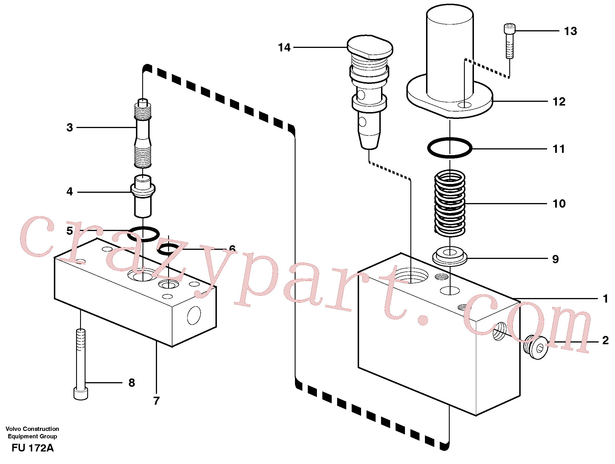 VOE14054983 for Volvo Thermostatic valve(FU172A assembly)