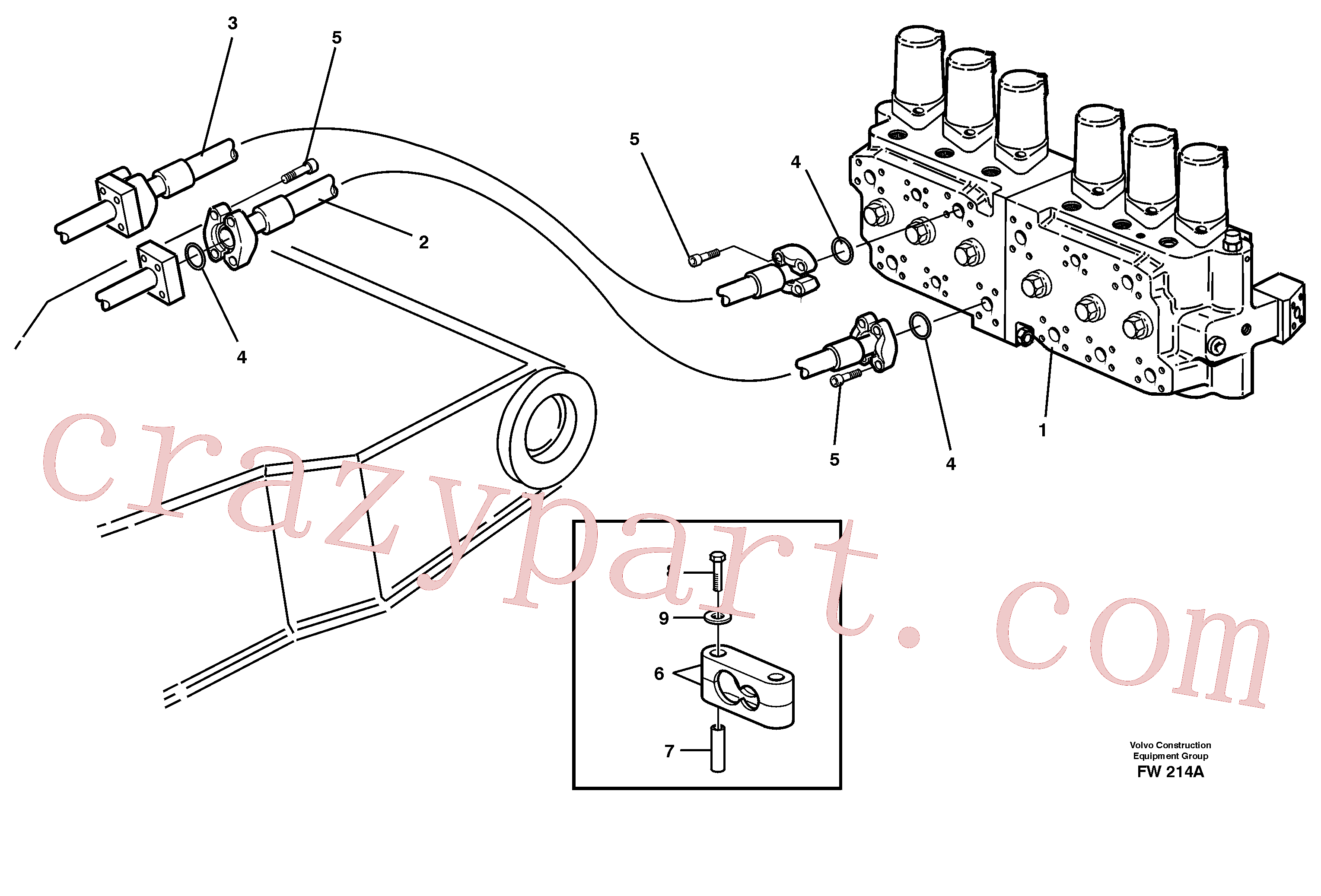 VOE14345006 for Volvo Hydraulic system, dipperarm(FW214A assembly)