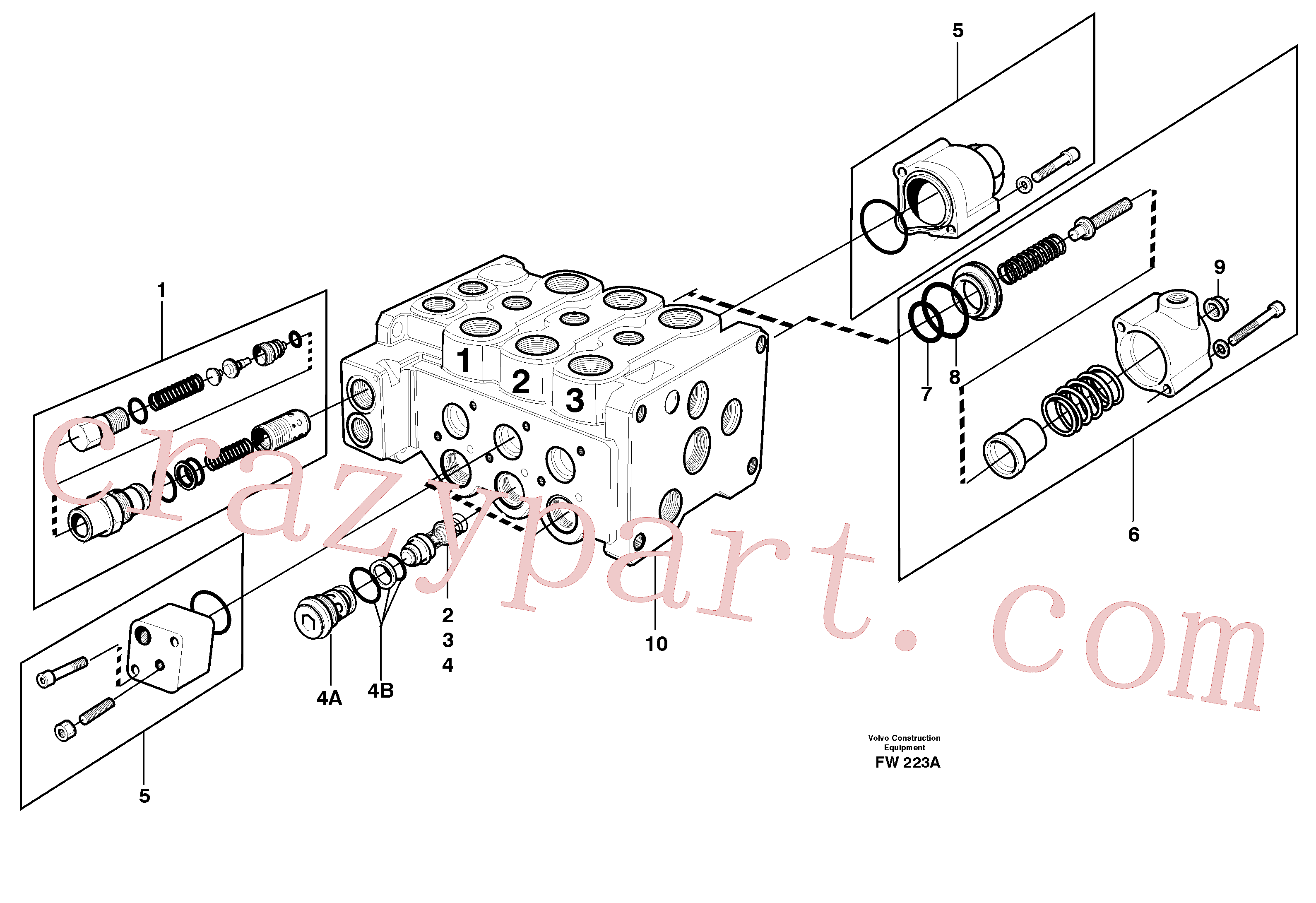 VOE11702631 for Volvo valve body, valves(FW223A assembly)