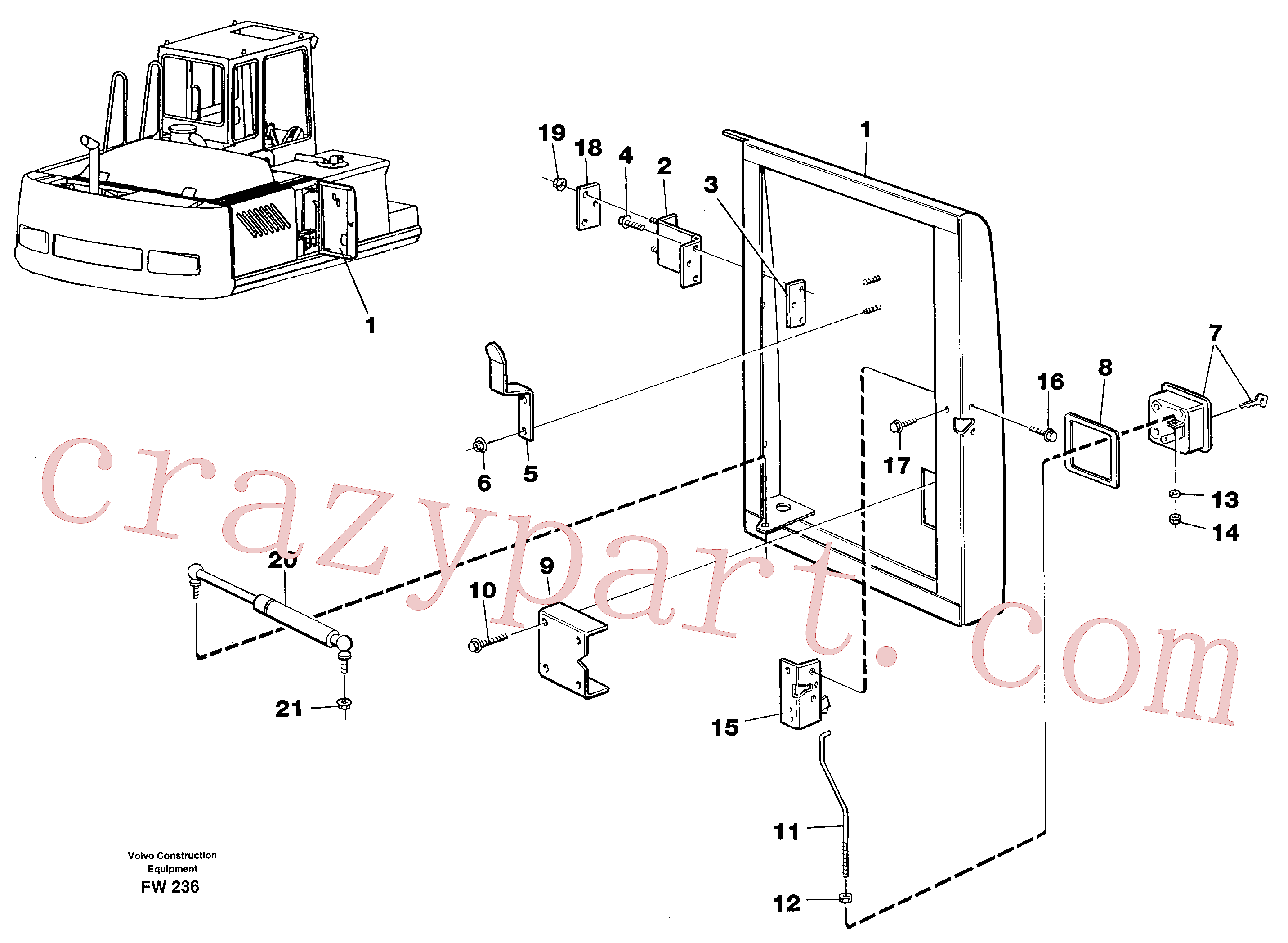 VOE14210353 for Volvo Door, centre, right(FW236 assembly)