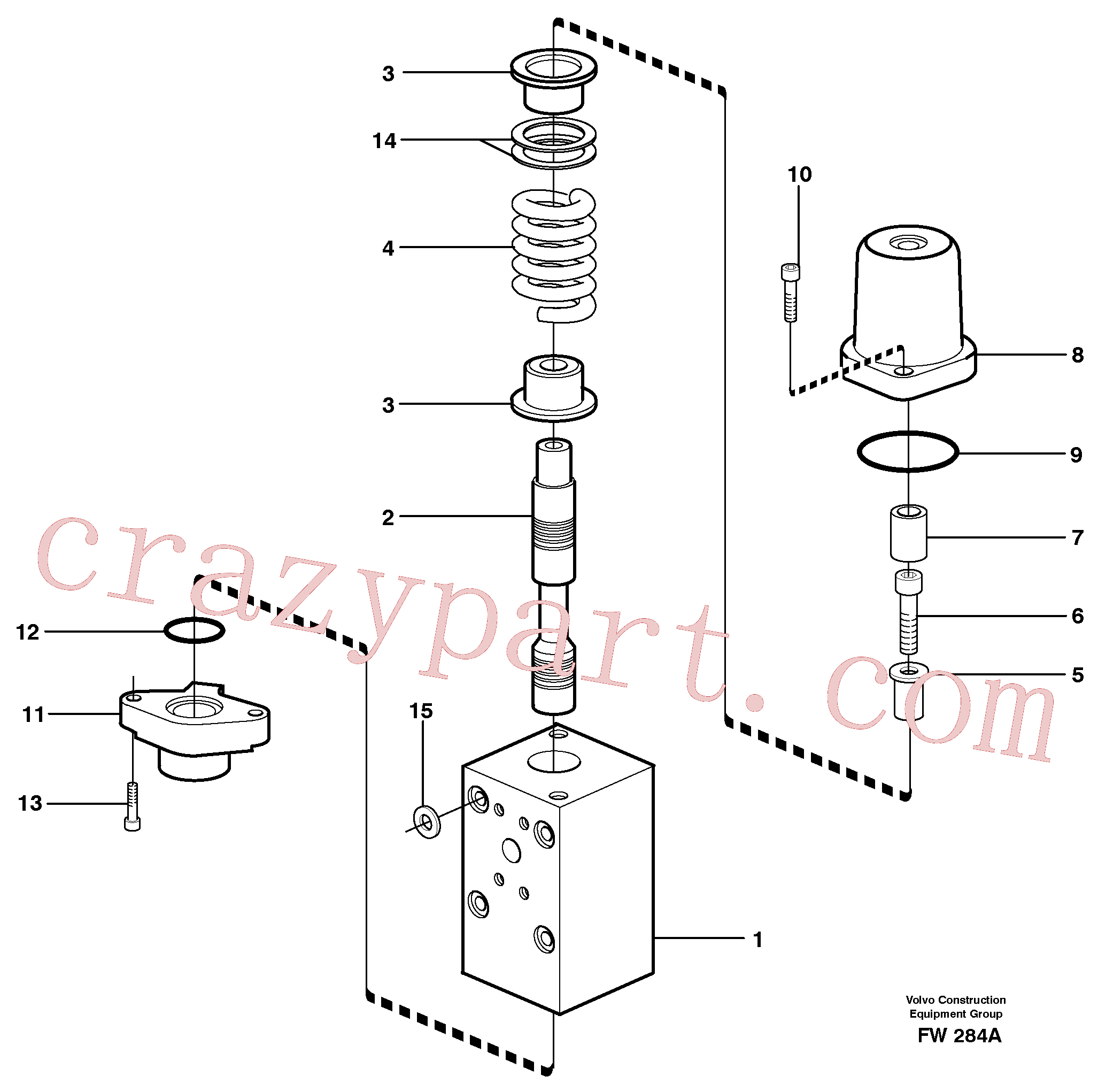 VOE14340568 for Volvo Connection valve(FW284A assembly)