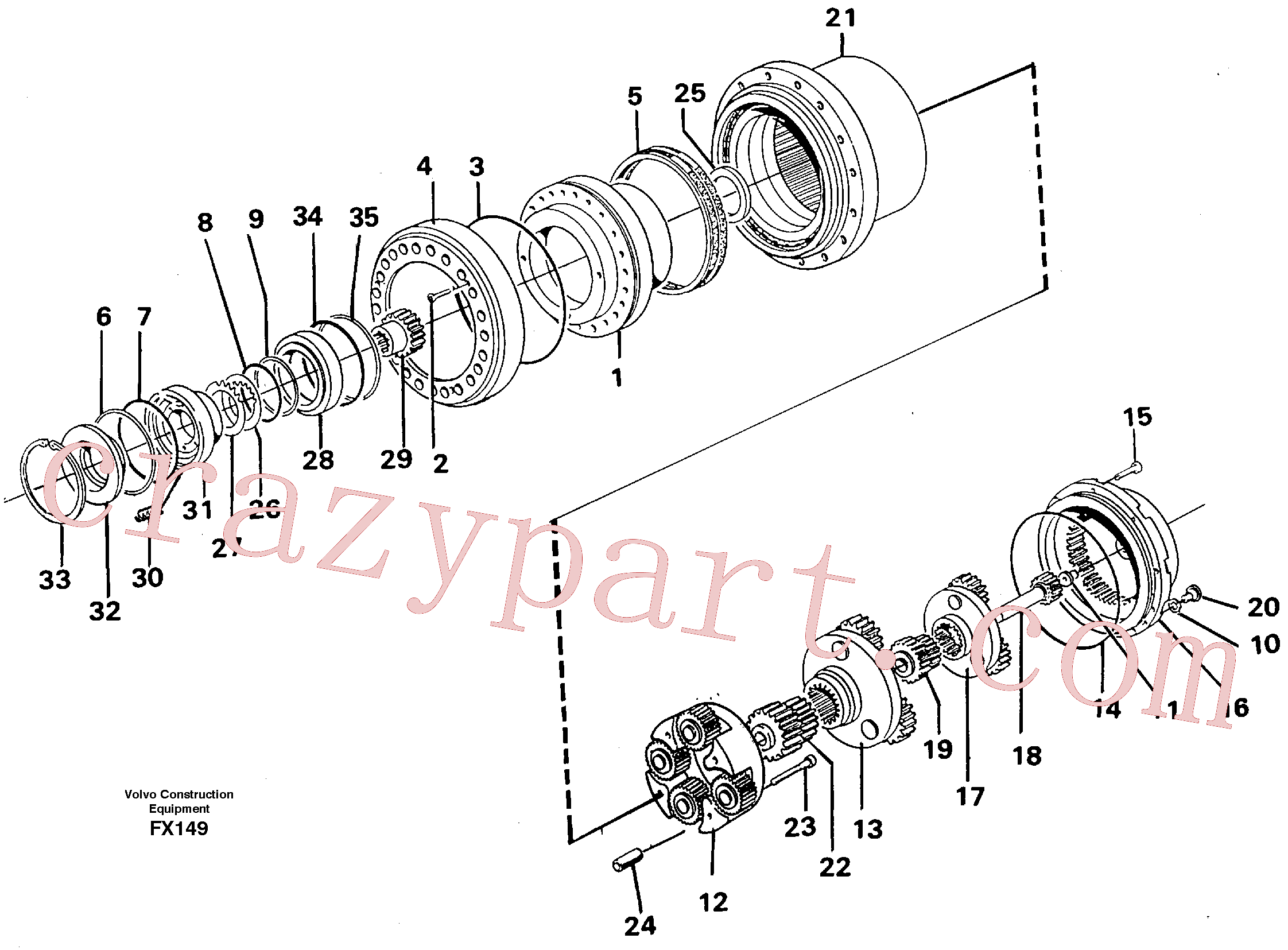 RM70921267 for Volvo Planetary drive(FX149 assembly)