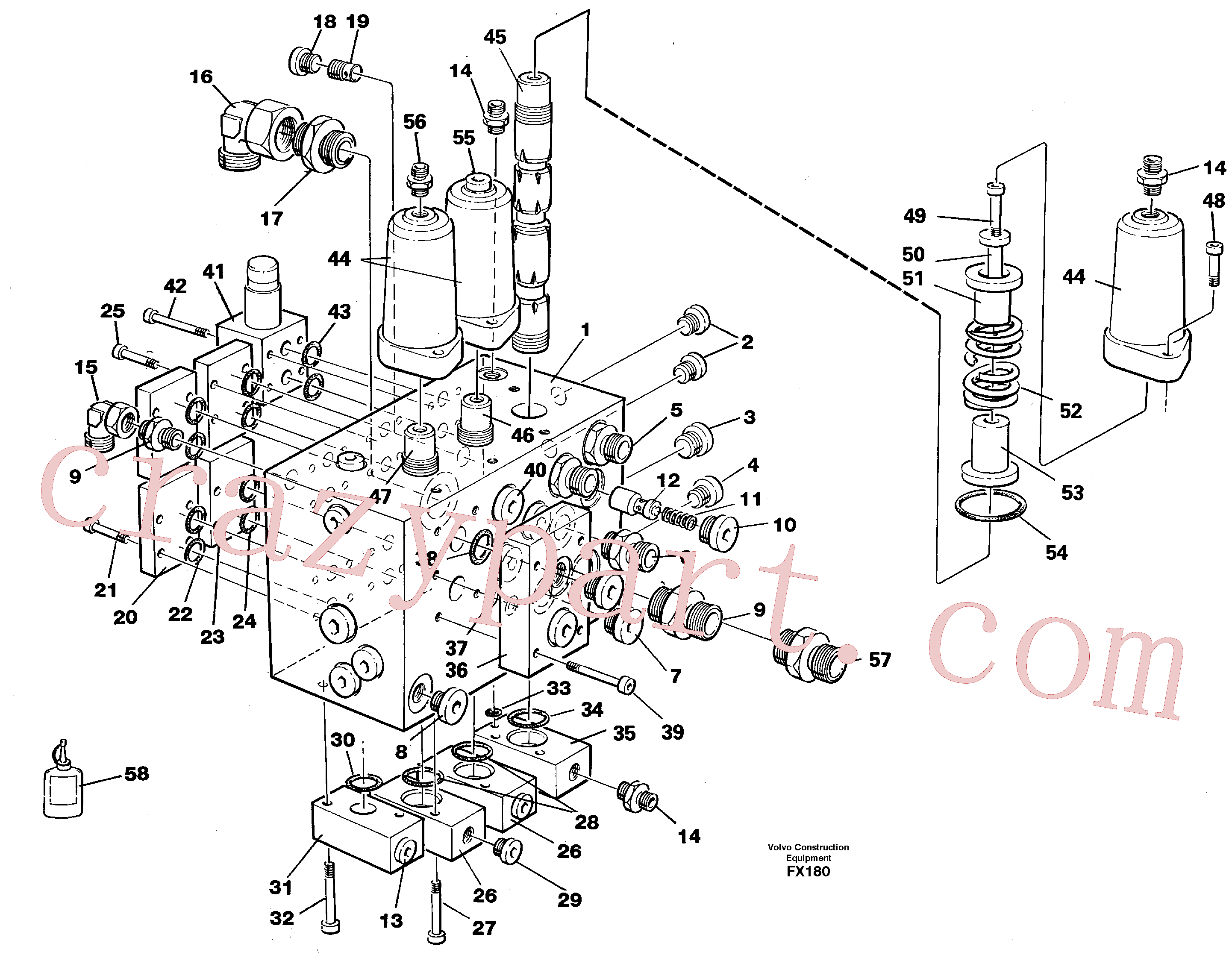 VOE14213280 for Volvo Slew valve assembly(FX180 assembly)