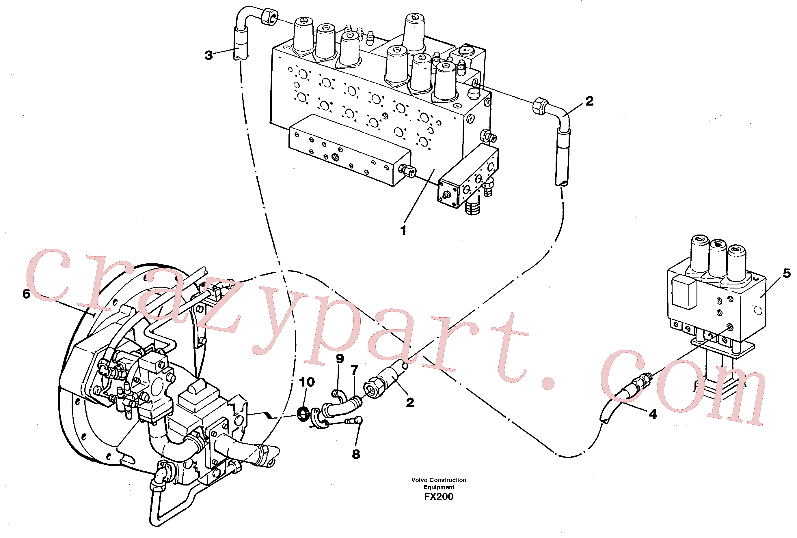 VOE14267482 for Volvo Hydraulic system, feed line(FX200 assembly)