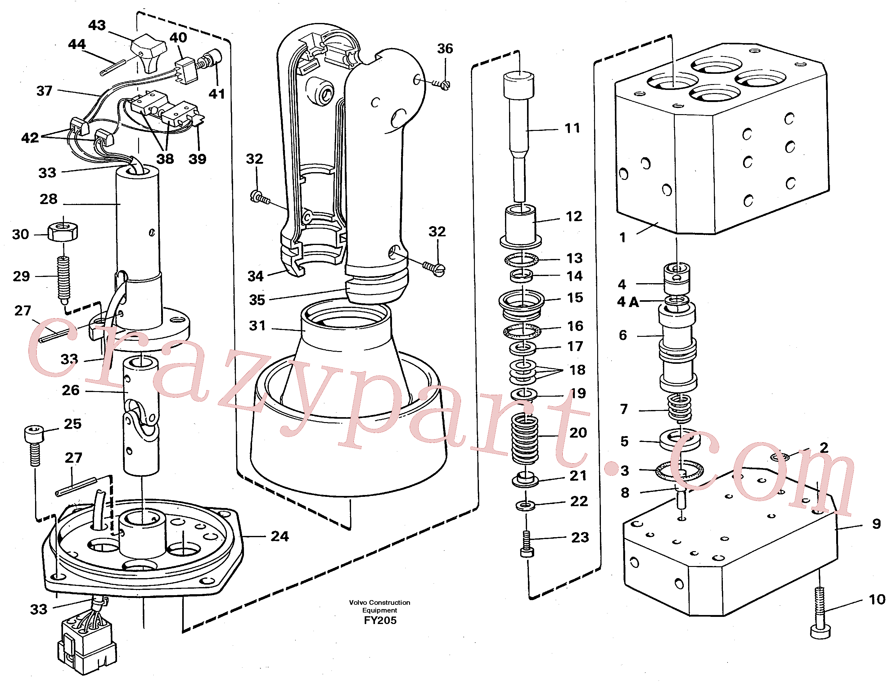 VOE14053896 for Volvo Control pressure valve(FY205 assembly)