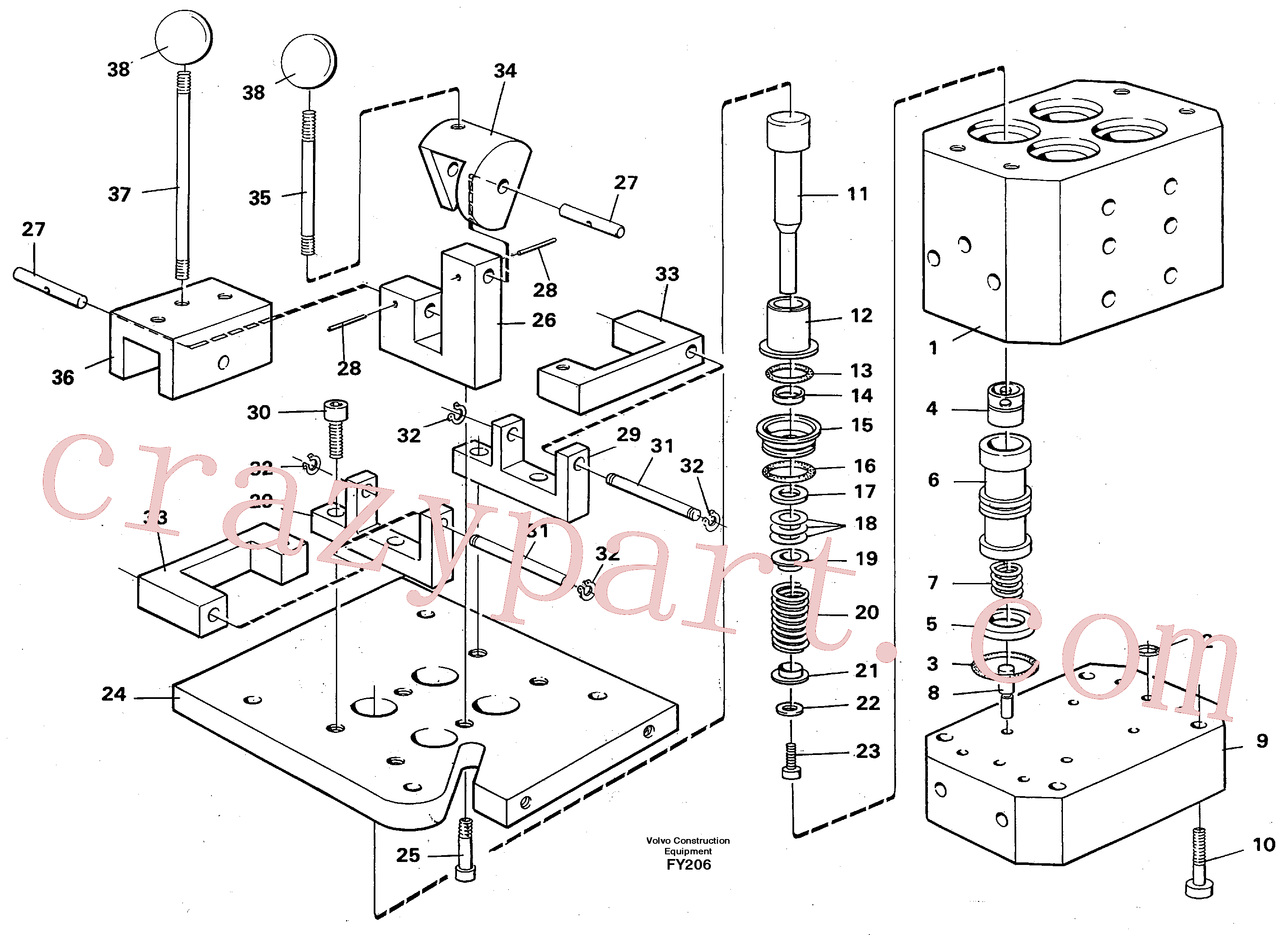 VOE14102174 for Volvo Control pressure valve(FY206 assembly)