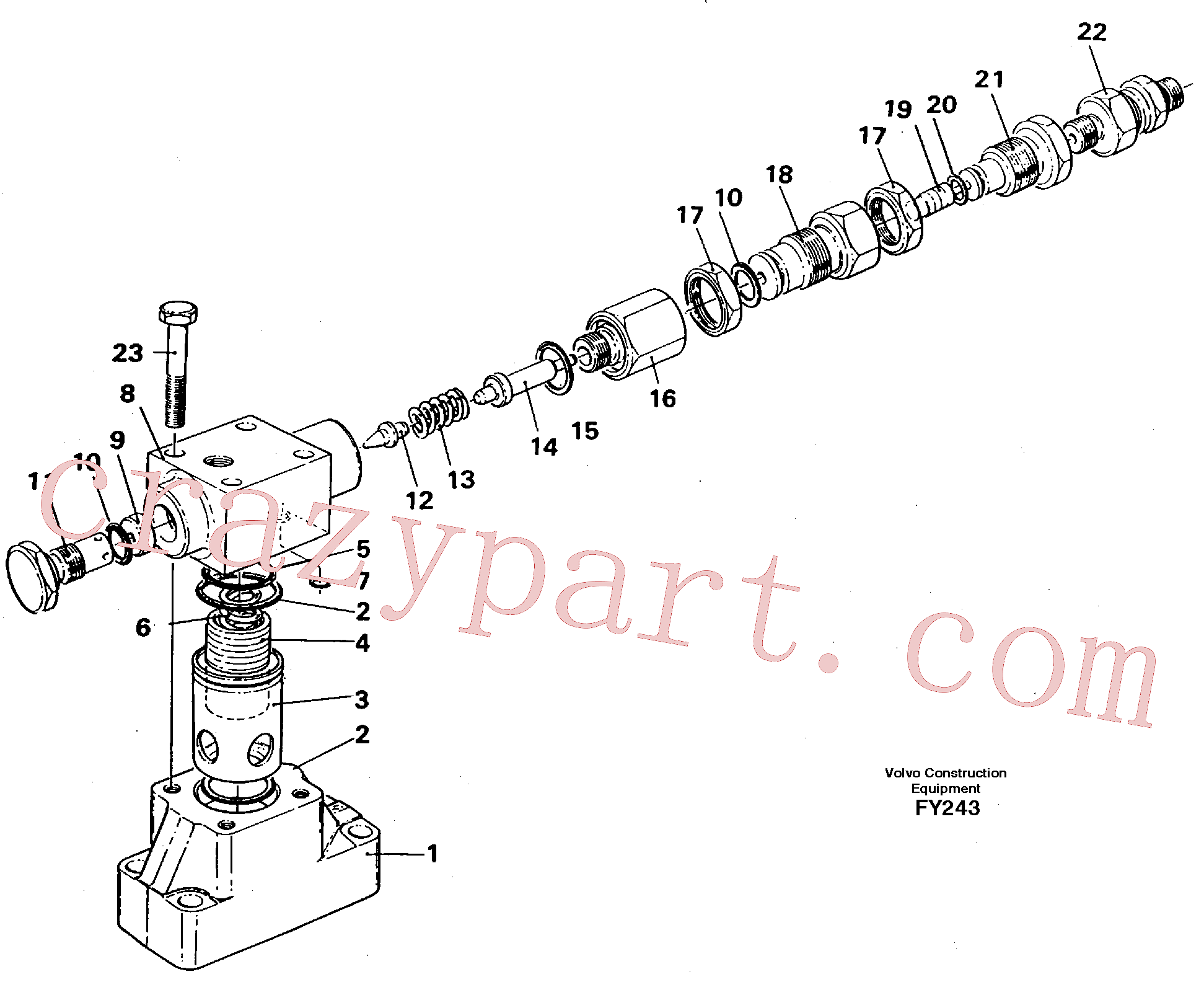 VOE14235611 for Volvo Pressure limiting valve(FY243 assembly)