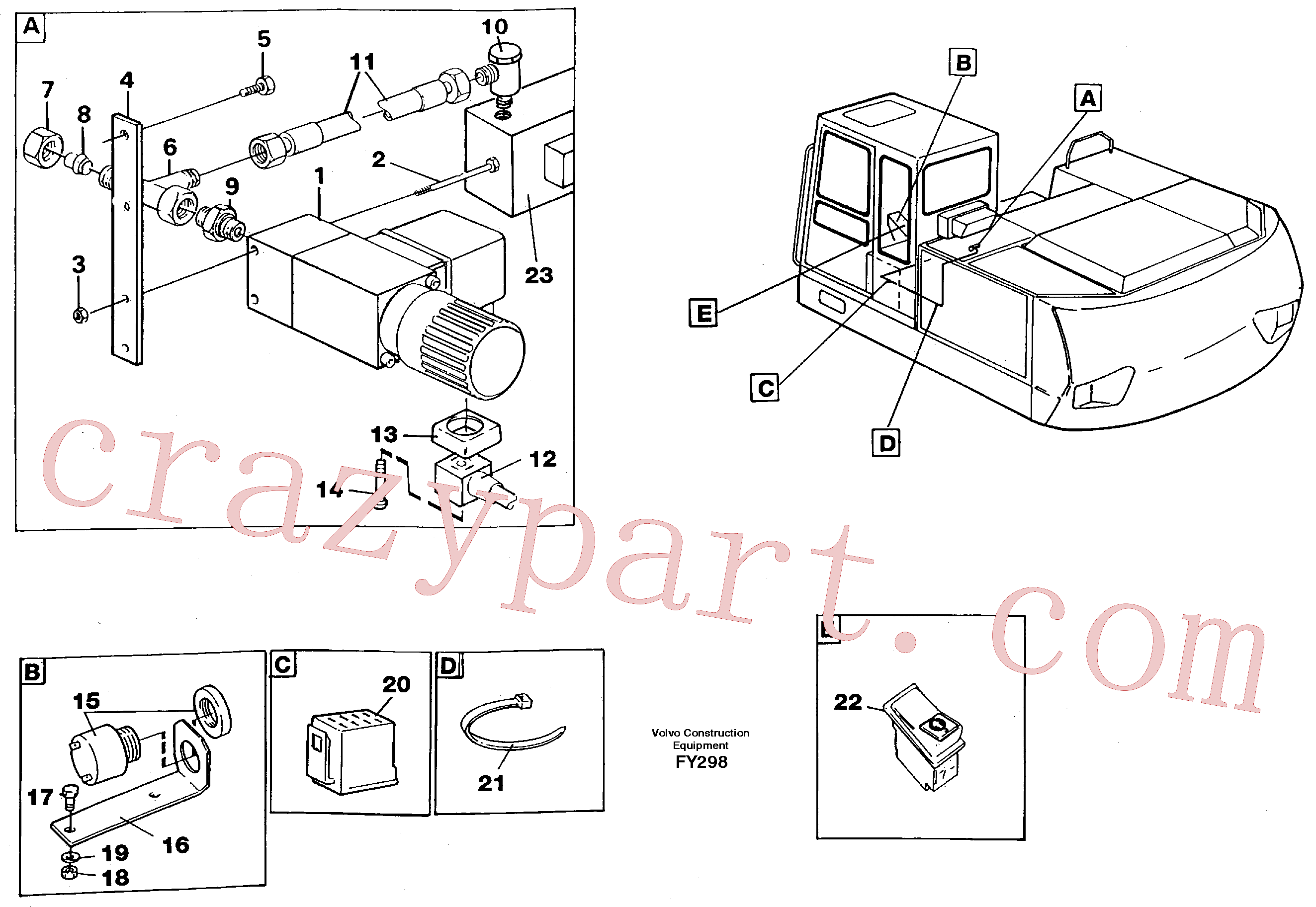 VOE14256007 for Volvo Overload protection(FY298 assembly)
