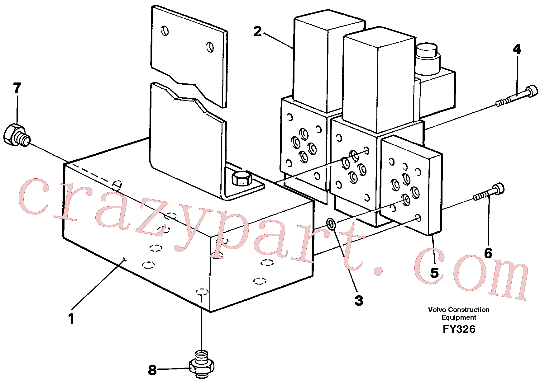 VOE14265156 for Volvo Solenoid valves(FY326 assembly)