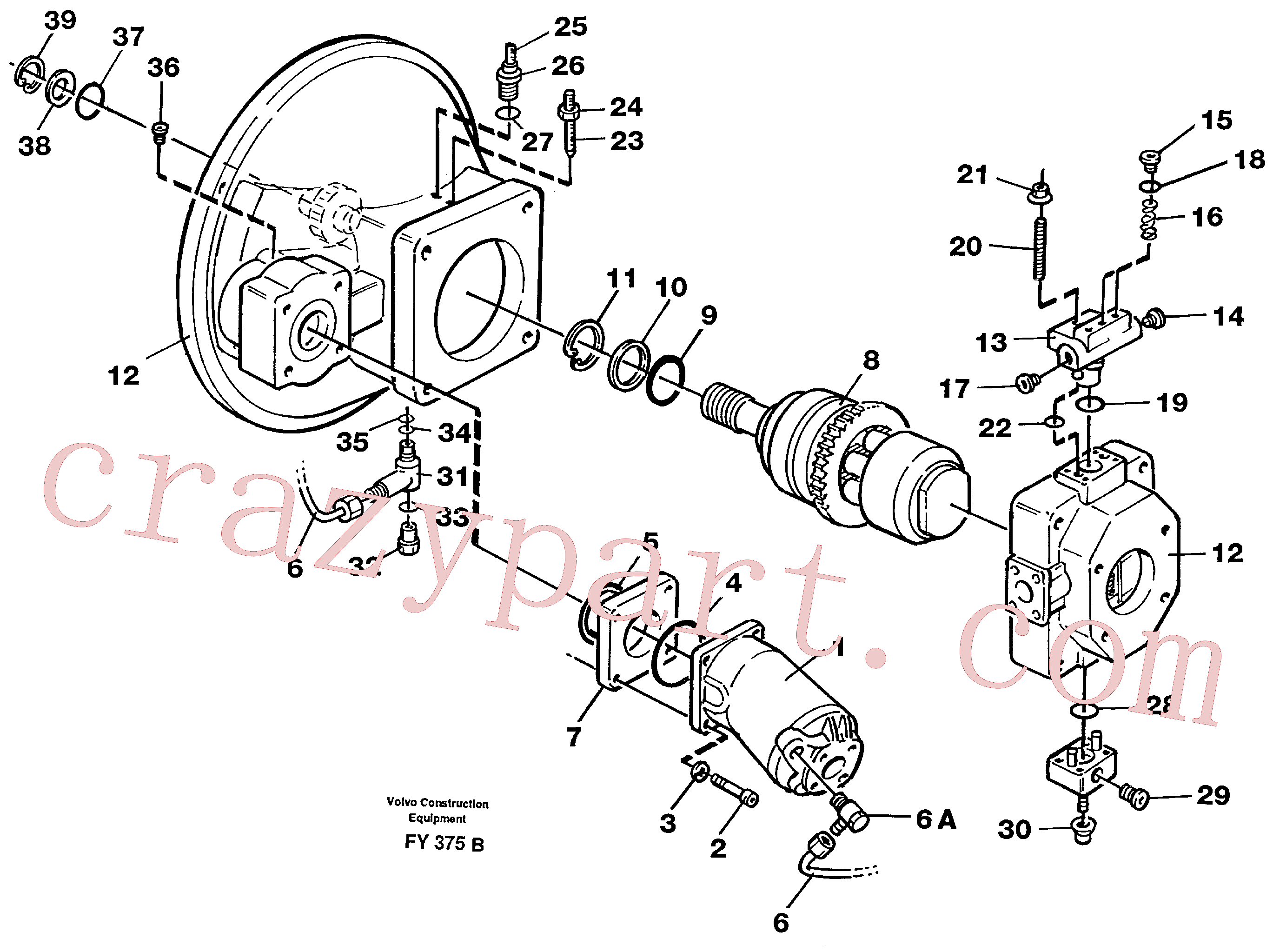 VOE11701785 for Volvo Pump gear box(FY375B assembly)